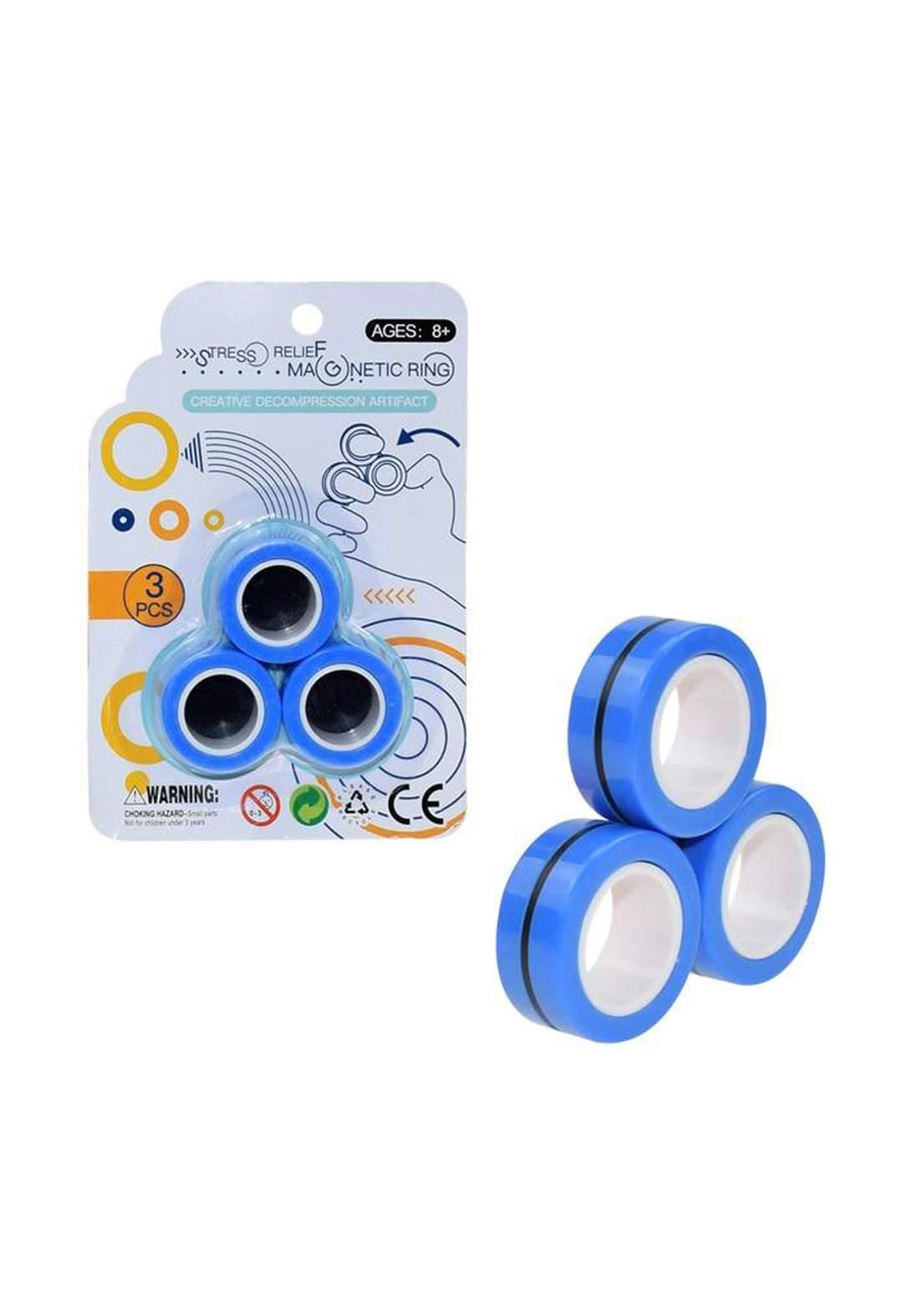 Stress Relief Magnetic Ring Toys 3Pcs  لعبة حلقة مغناطيسية لتخفيف التوتر
