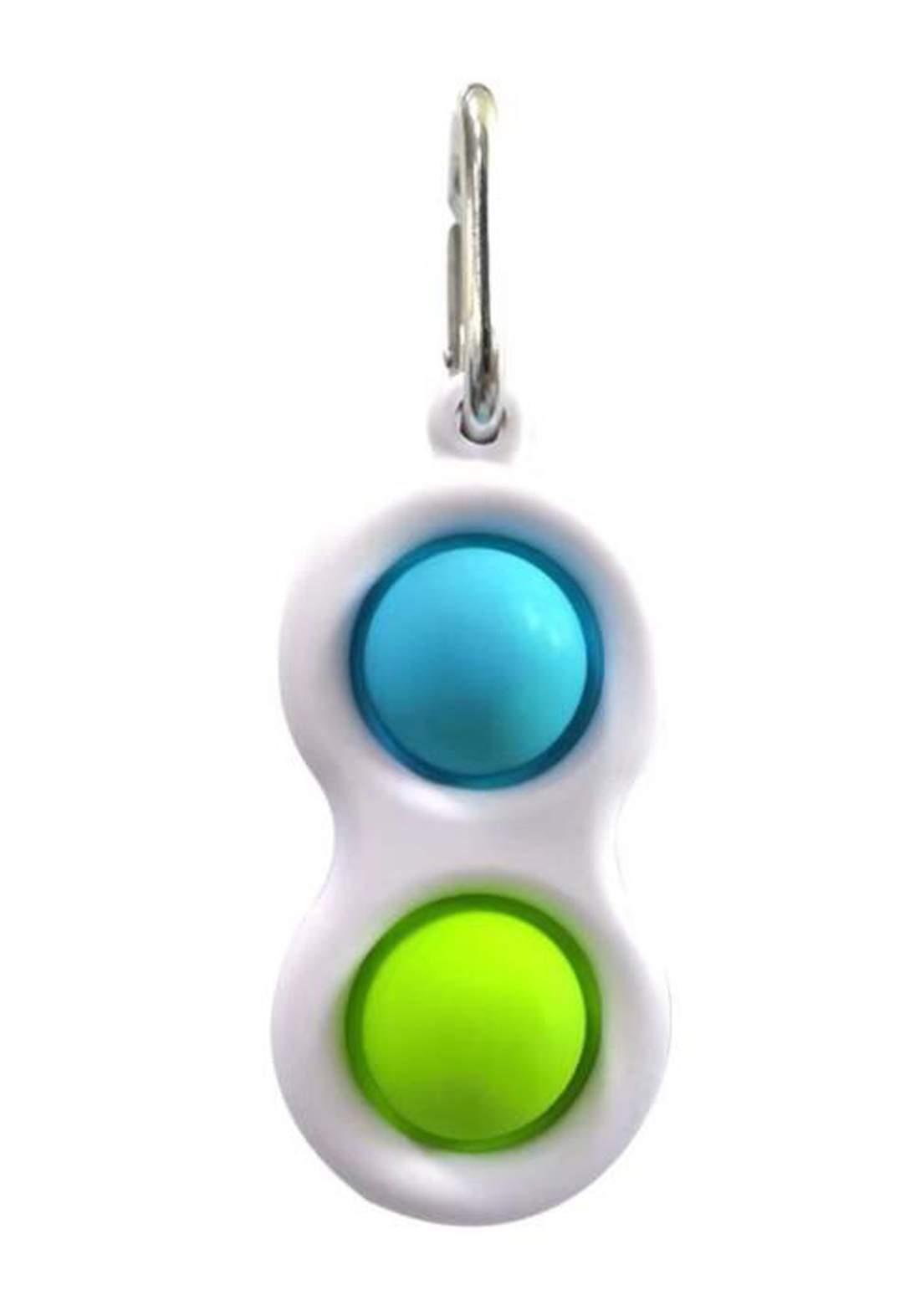 Fidget  Toy Hand Portable   ميدالية مفاتيح مع حلقات سيلكونية