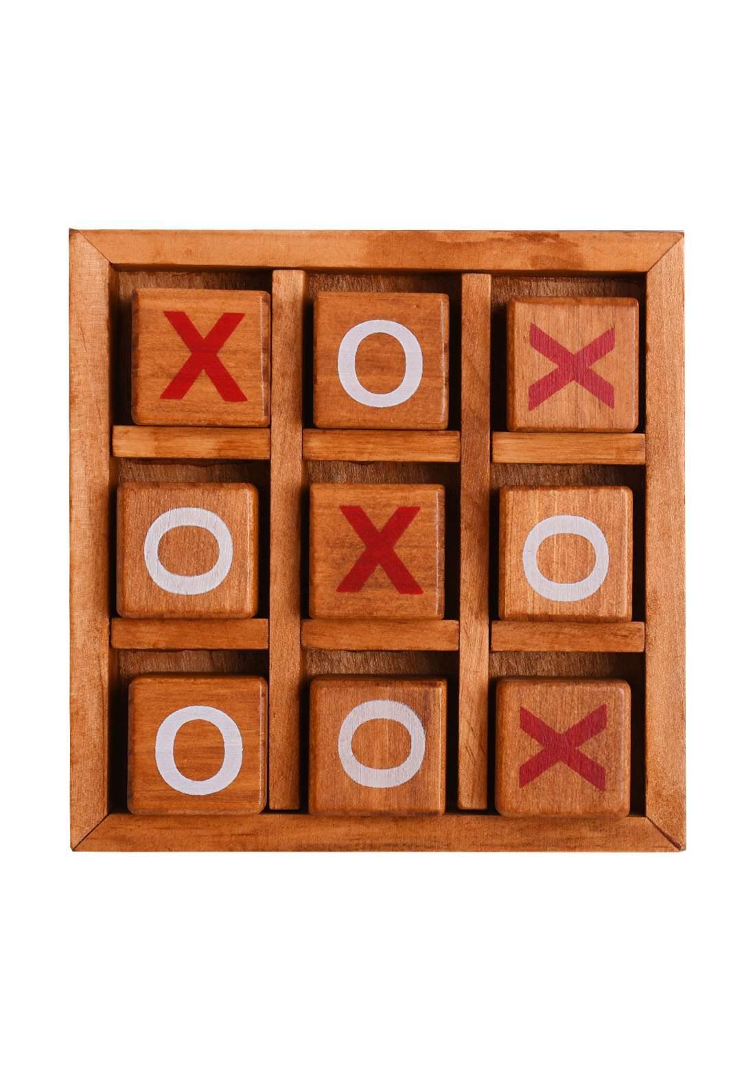 Wooden X-O Game لعبة أكس -أو الخشبية