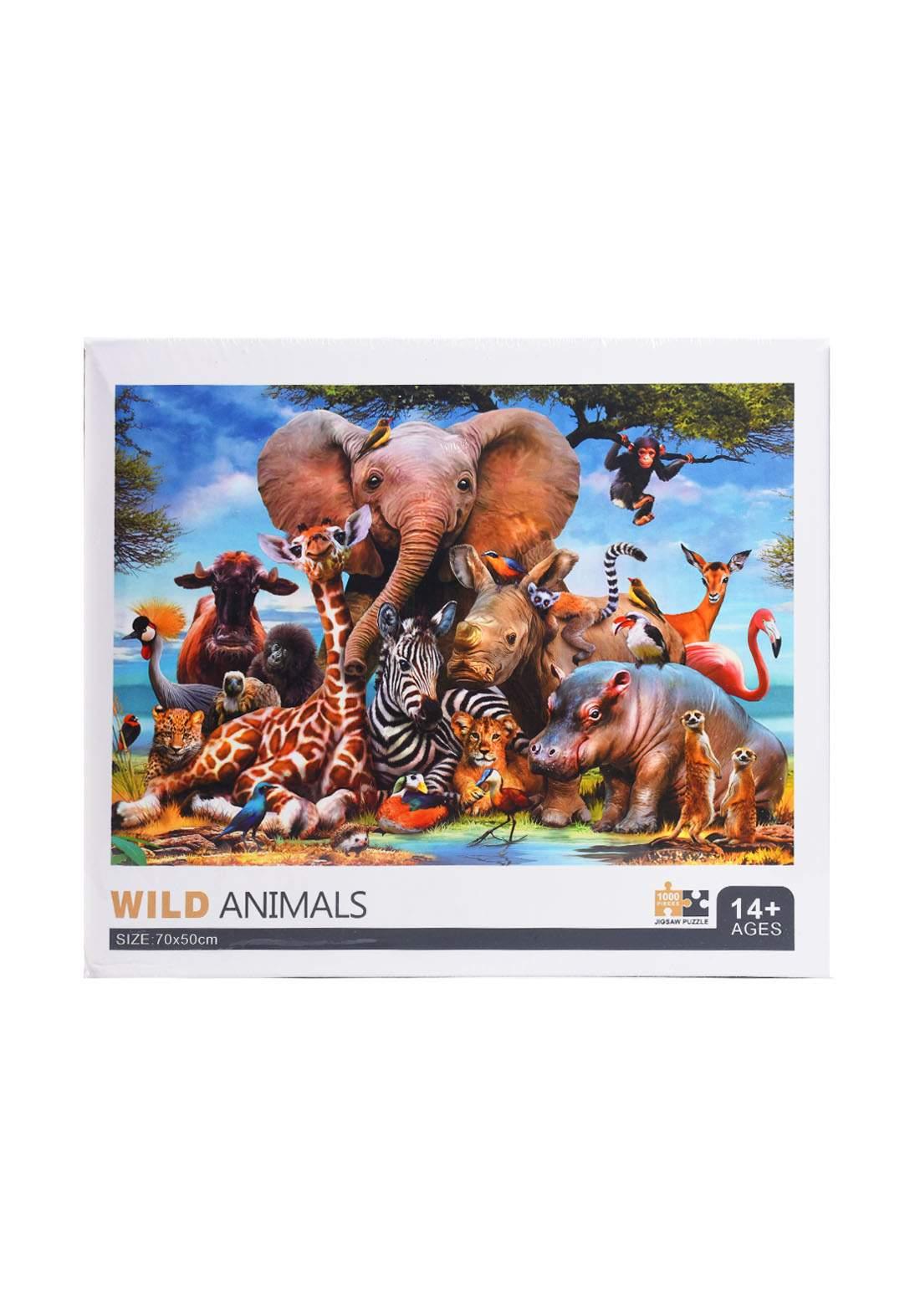 Jigsaw Puzzle Wild Animals 1000Pcs لعبة تركيب القطع بشكل الحيوانات البرية