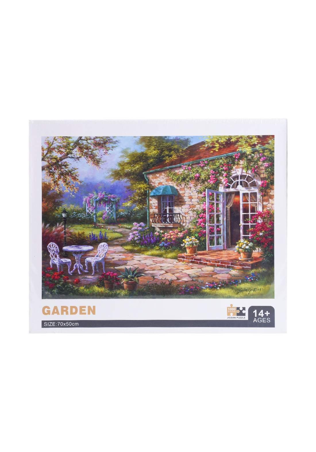 Jigsaw Puzzle Garden 1000Pcs لعبة تركيب القطع بشكل حديقة
