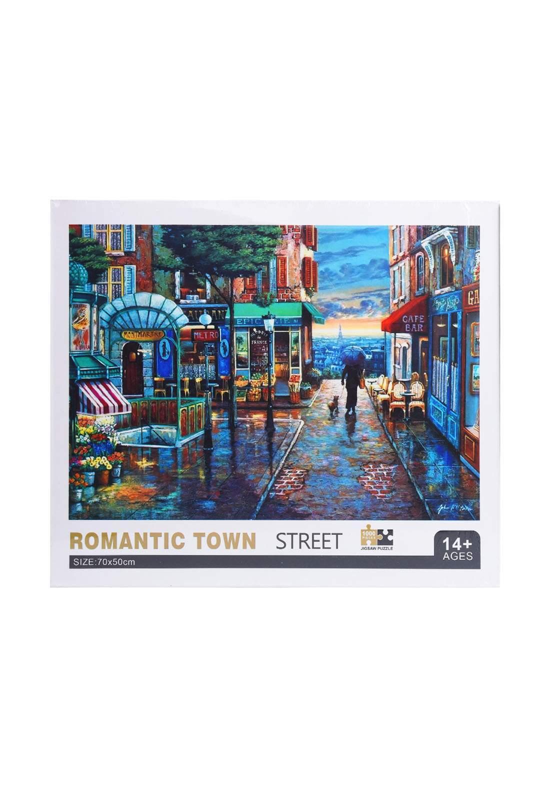 Jigsaw Puzzle Romantic Town Street 1000Pcs لعبة تركيب القطع بشكل شارع المدينة الرومانسي