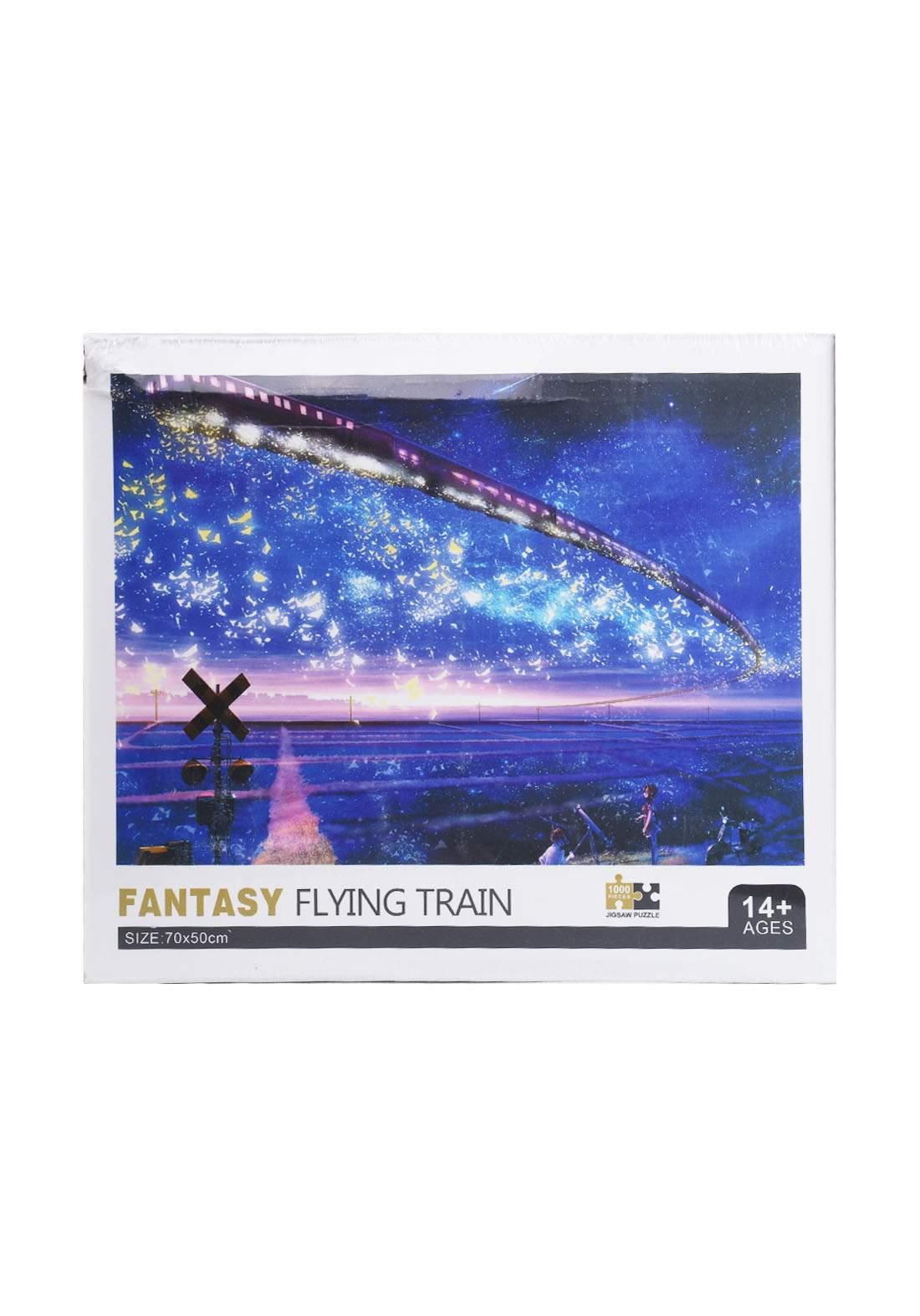 Jigsaw Puzzle Fantasy Flying Train 1000Pcs لعبة تركيب القطع بشكل قطار الطيران الخيالي