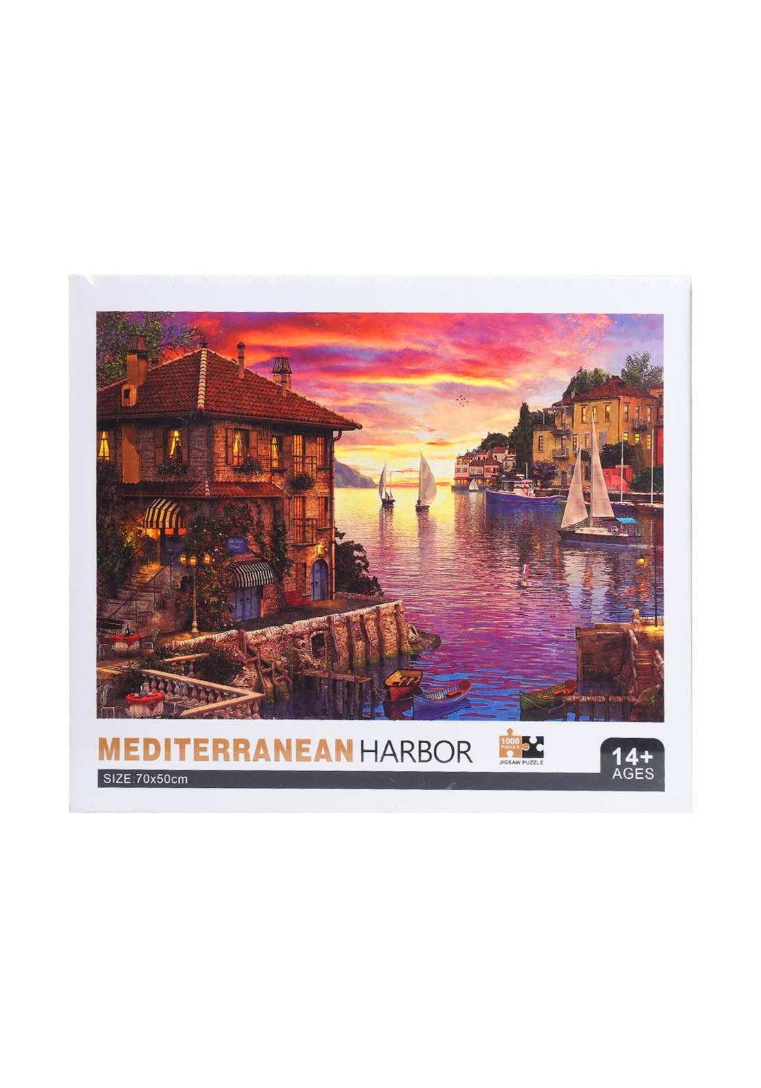 Jigsaw Puzzle Meditrranean Harbor 1000Pcs لعبة تركيب القطع بشكل ميناء البحر الأبيض المتوسط