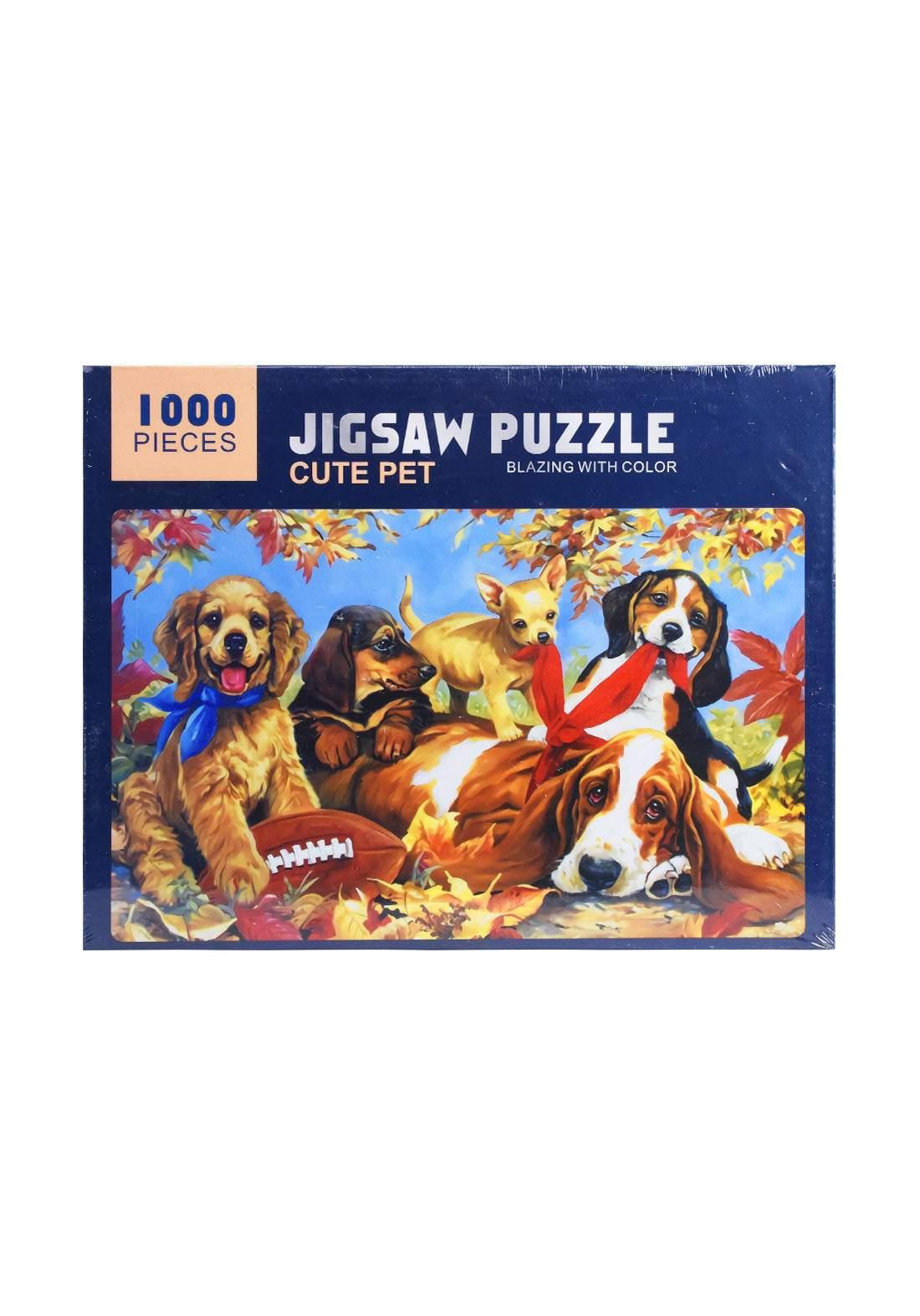 Jigsaw Puzzle Cute Pet 1000Pcs لعبة تركيب القطع بشكل حيوان أليف