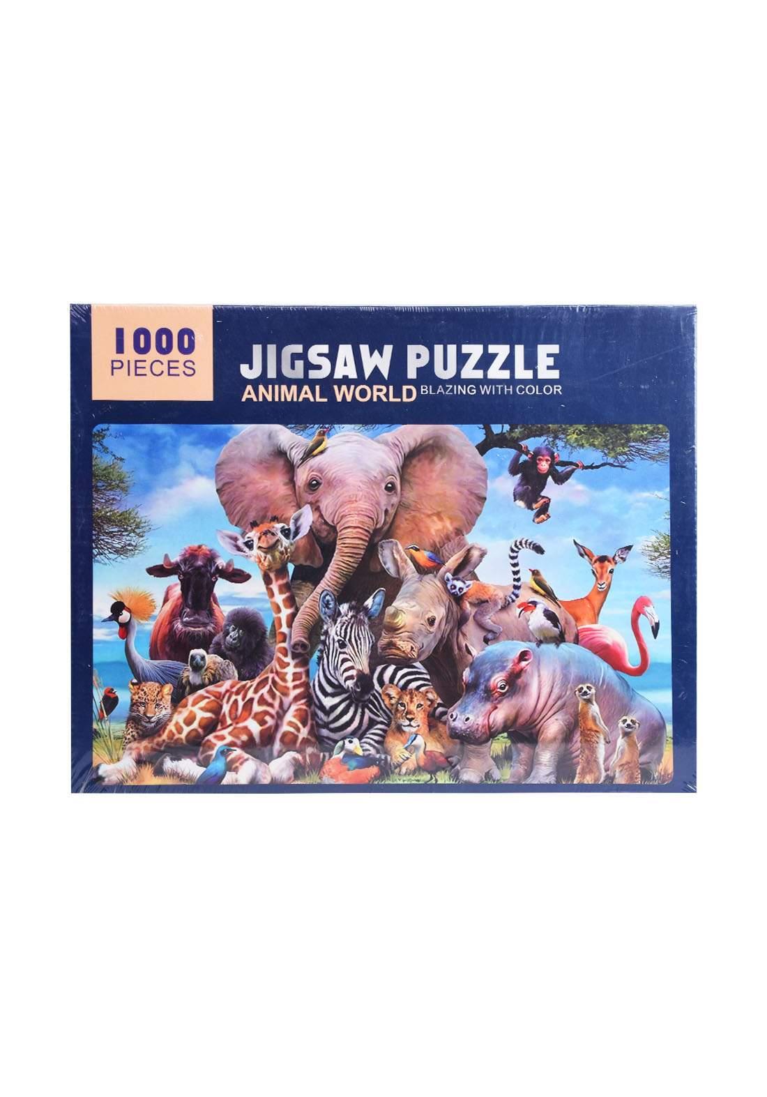 Jigsaw Puzzle Animal World 1000Pcs لعبة تركيب القطع بشكل عالم الحيوان