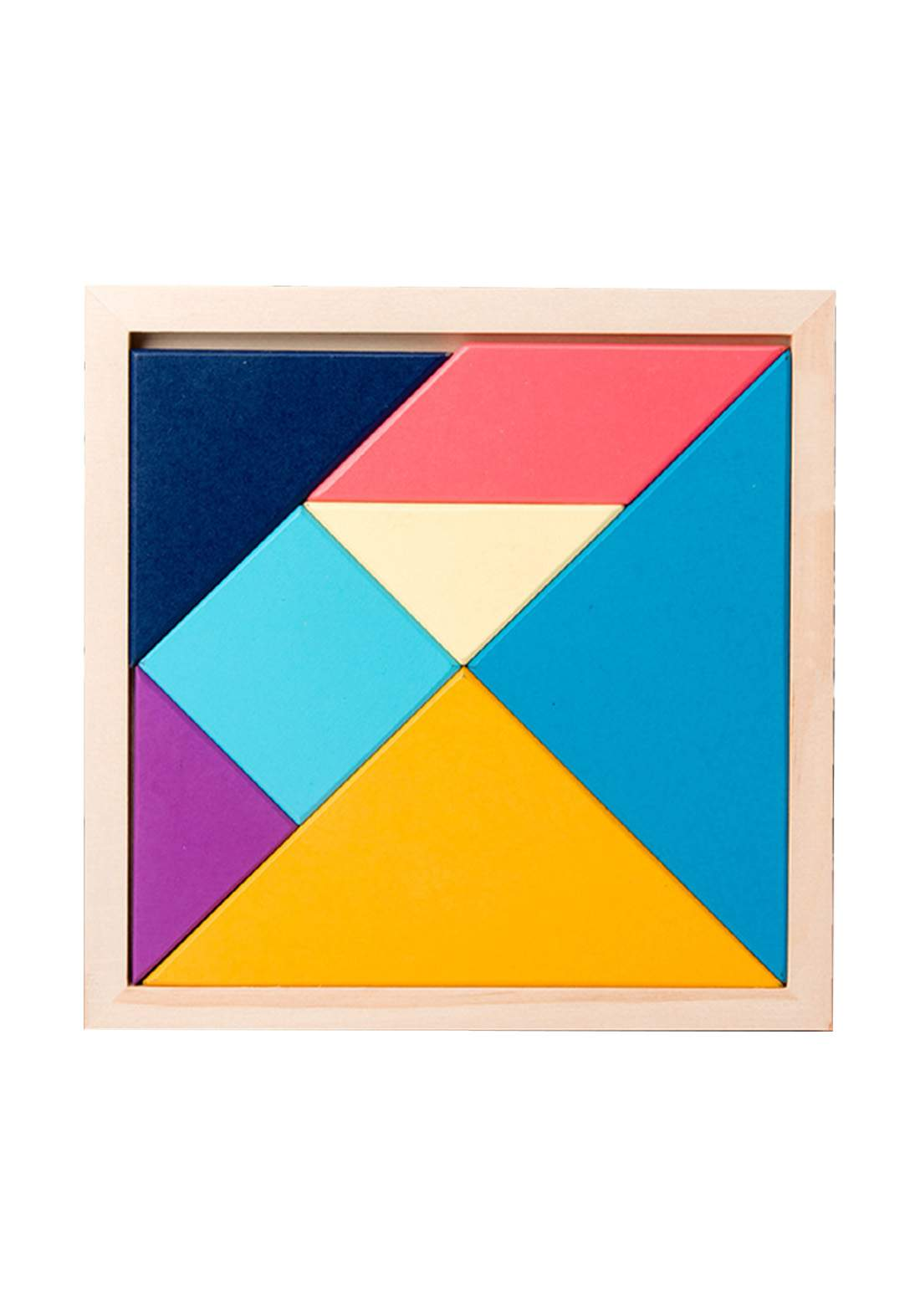 Wooden Puzzle Toy for Kids لعبة تركيب القطع المبعثرة لتصميم شكل مُعَين