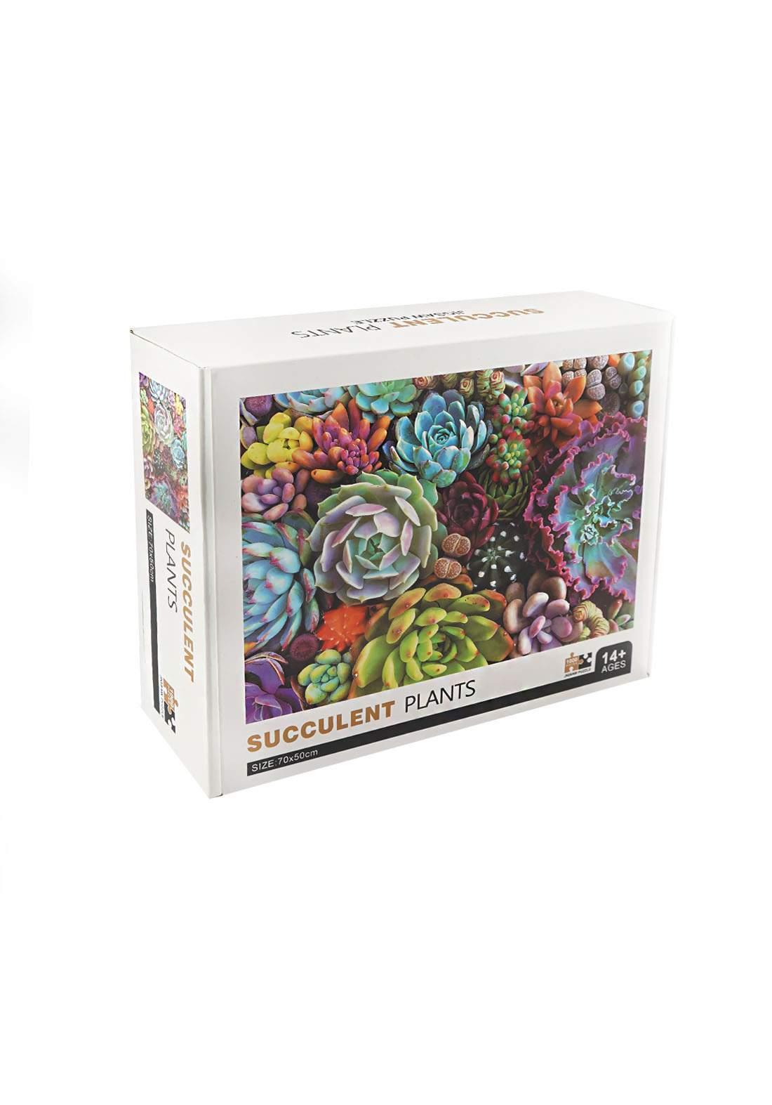 Jigsaw Puzzle Succulent Plants 1000Pcs لعبة تركيب القطع بشكل نباتات