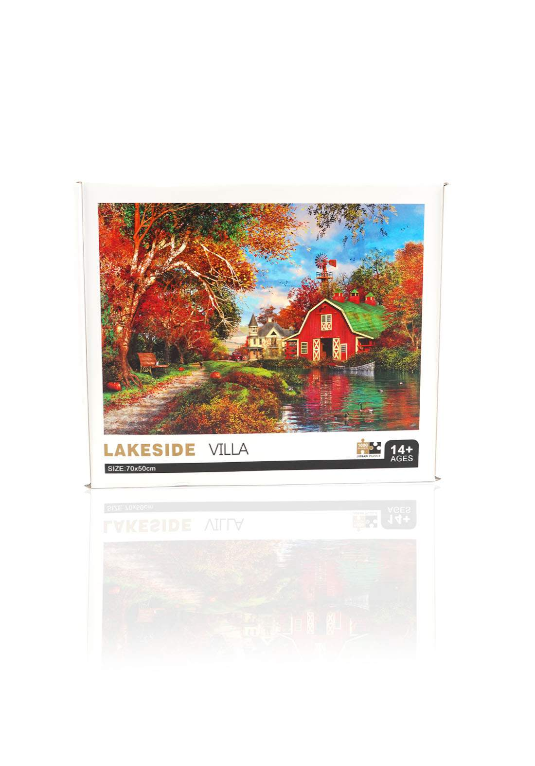 Jigsaw Puzzle Lake side Villa 1000Pcs لعبة تركيب القطع بشكل منزل وحديقة