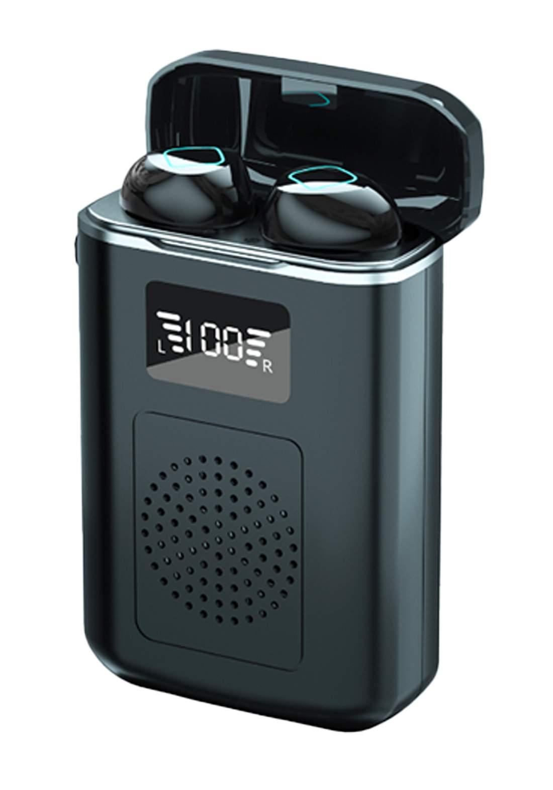 Hopora M6 Waterproof Wireless Earbuds With Speaker - Black سماعة لاسلكية