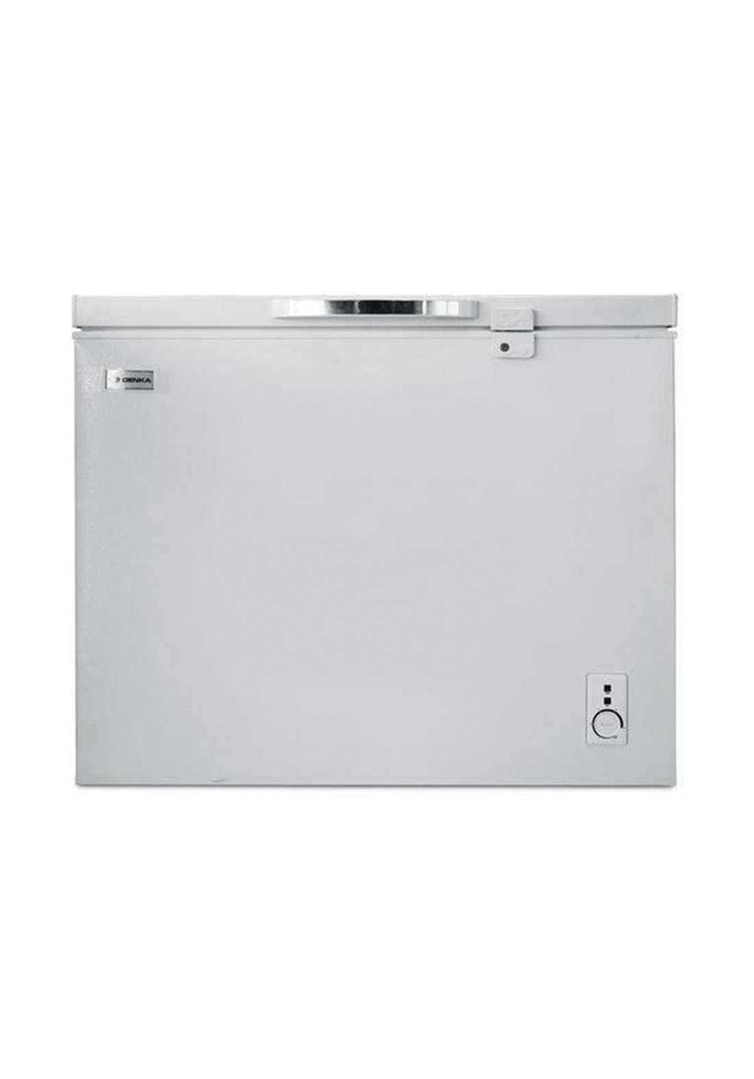 Denka  GCF-275WLT Chest Freezer 8 feet - white مجمدة