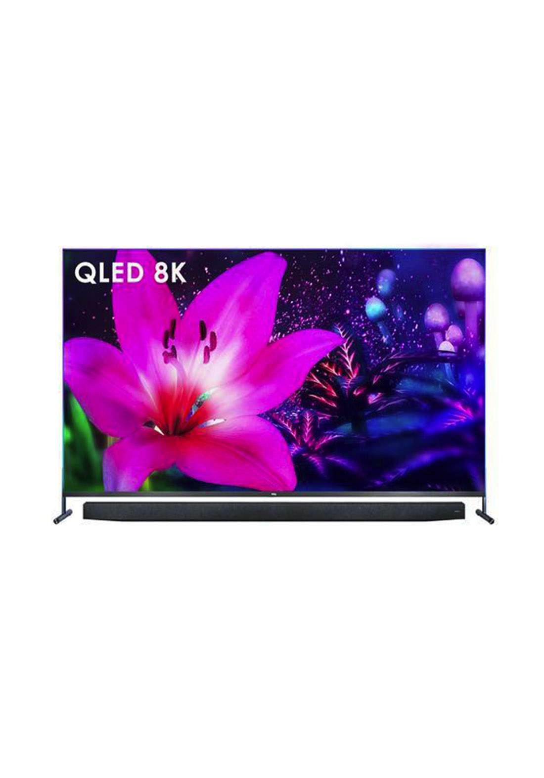 TCL 75X915 75 inch QLED 8K Smart Android TV-  Black شاشة ذكية