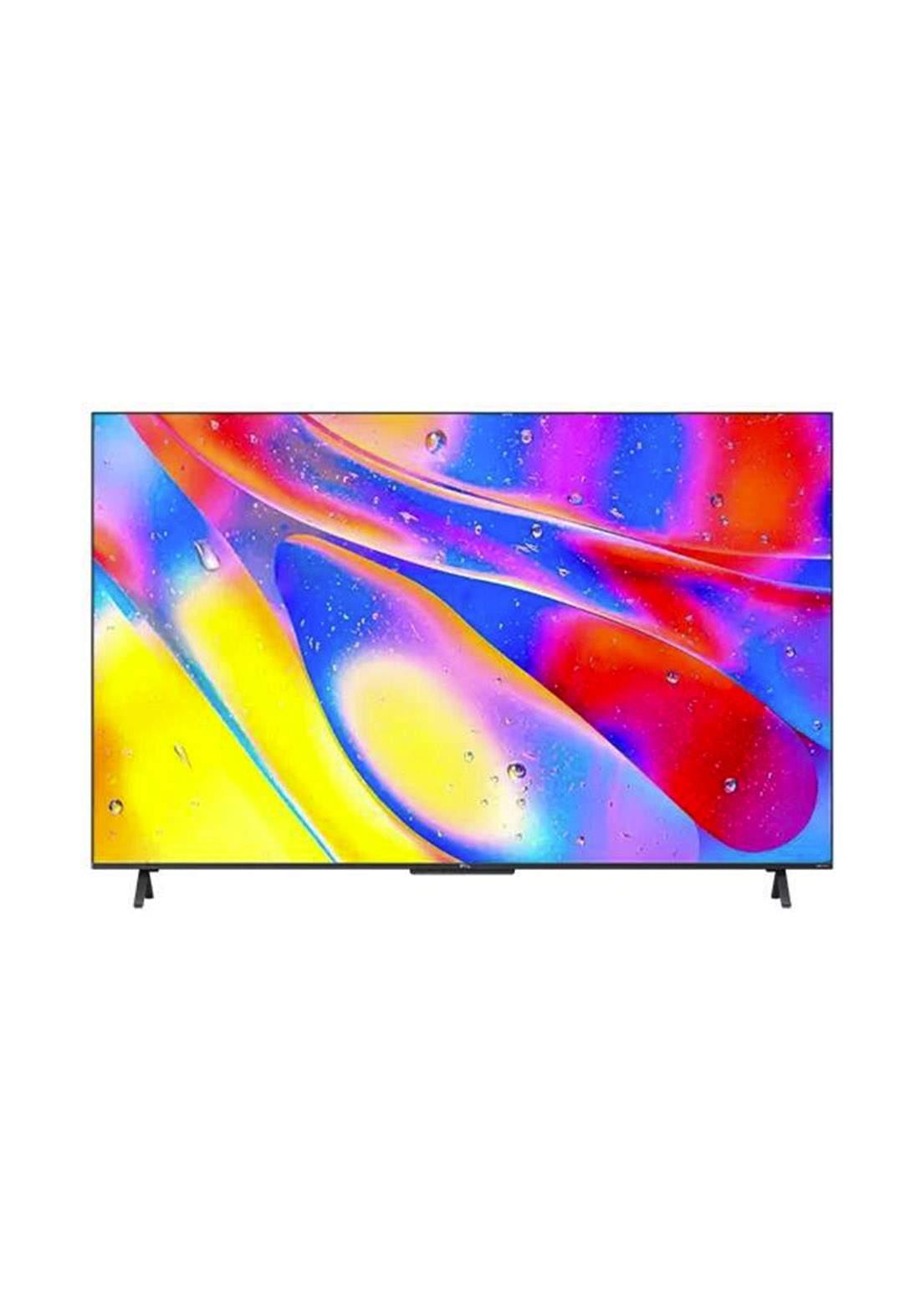 TCL 50C725 50-inch Ultra HD 4K Smart QLED TV-  Black شاشة ذكية