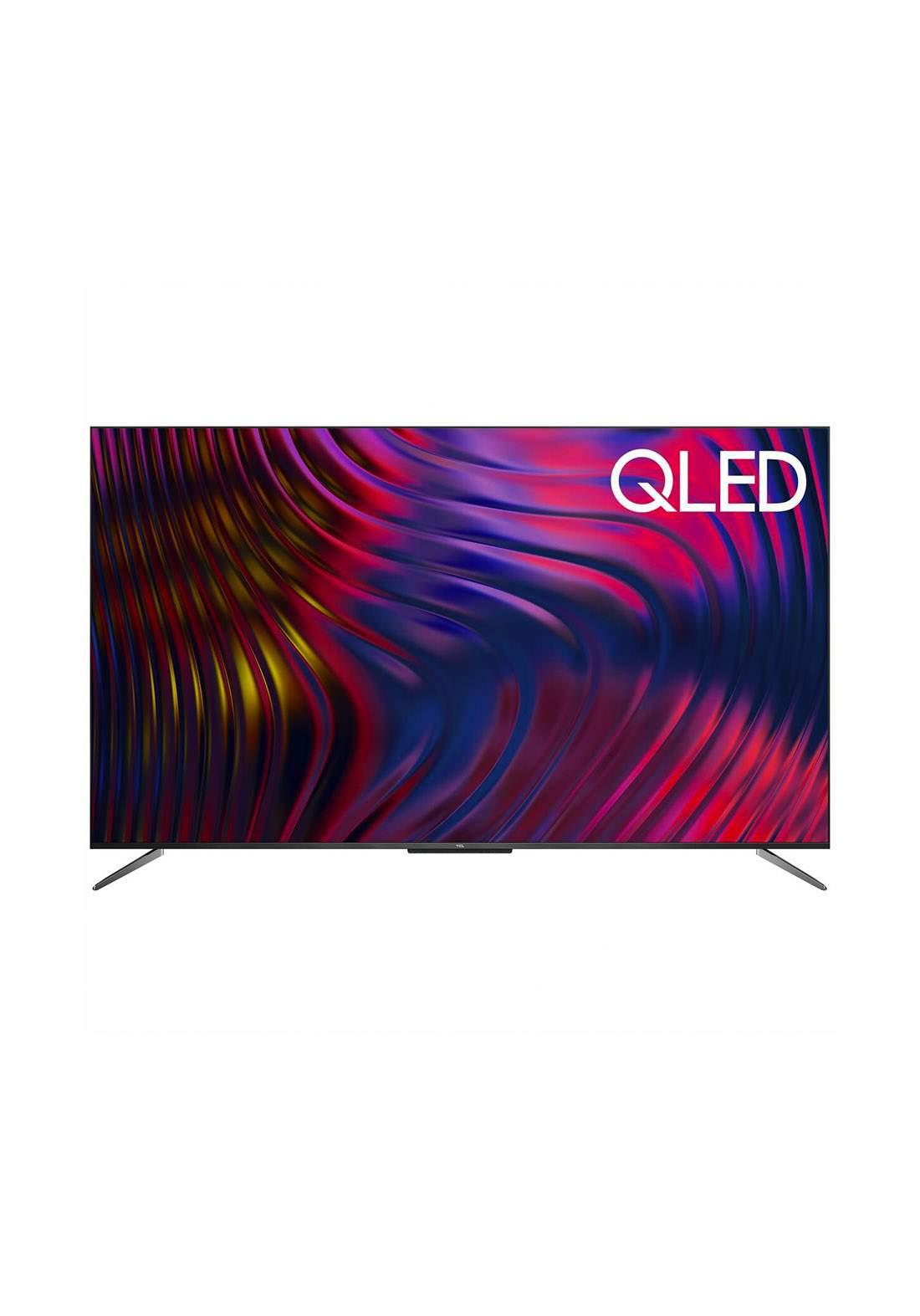 TCL  55C715   4K UHD HDR Android Smart QLED TV- Black  شاشة