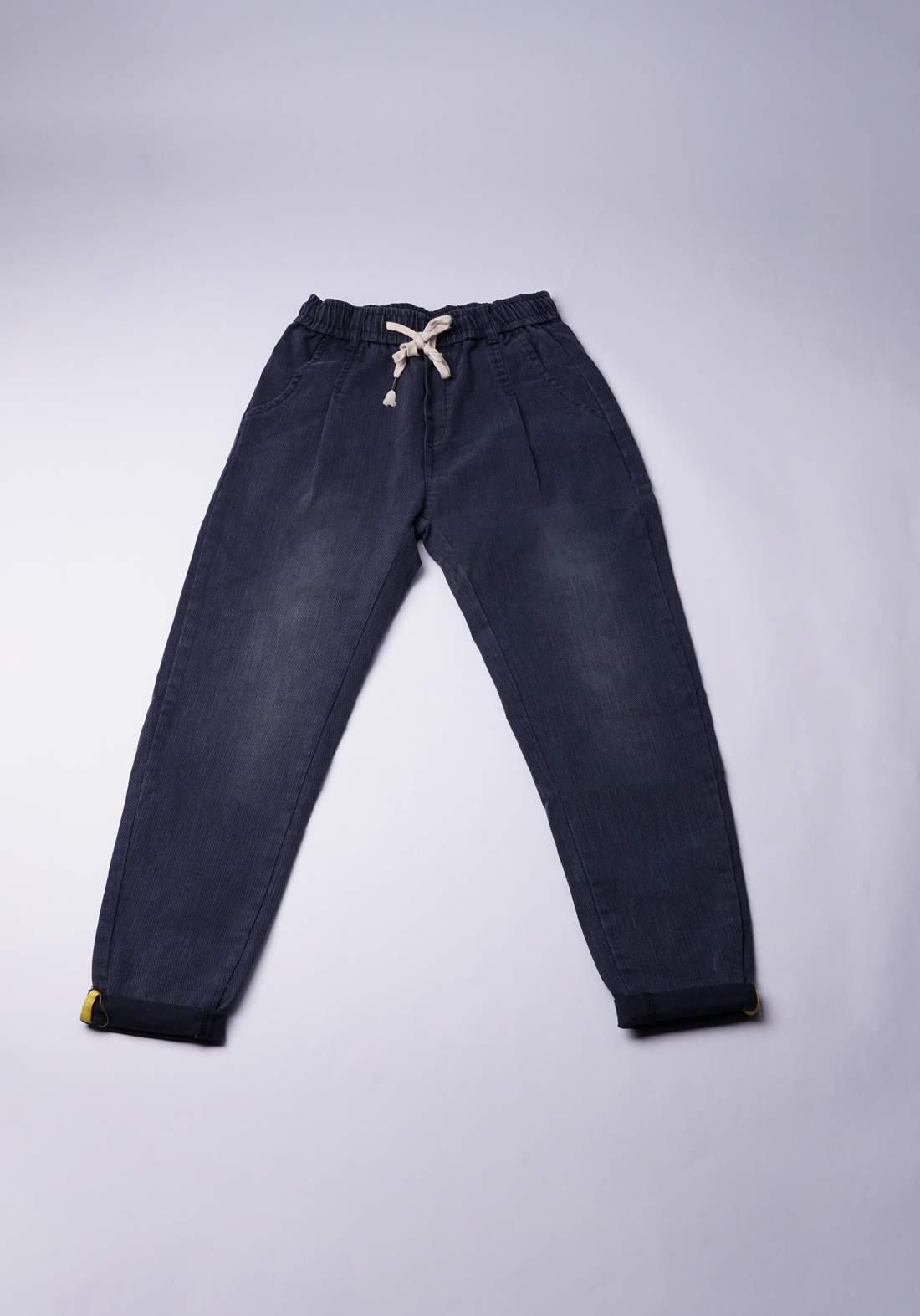 بنطلون شبابي بتصميم بسيط أزرق اللون