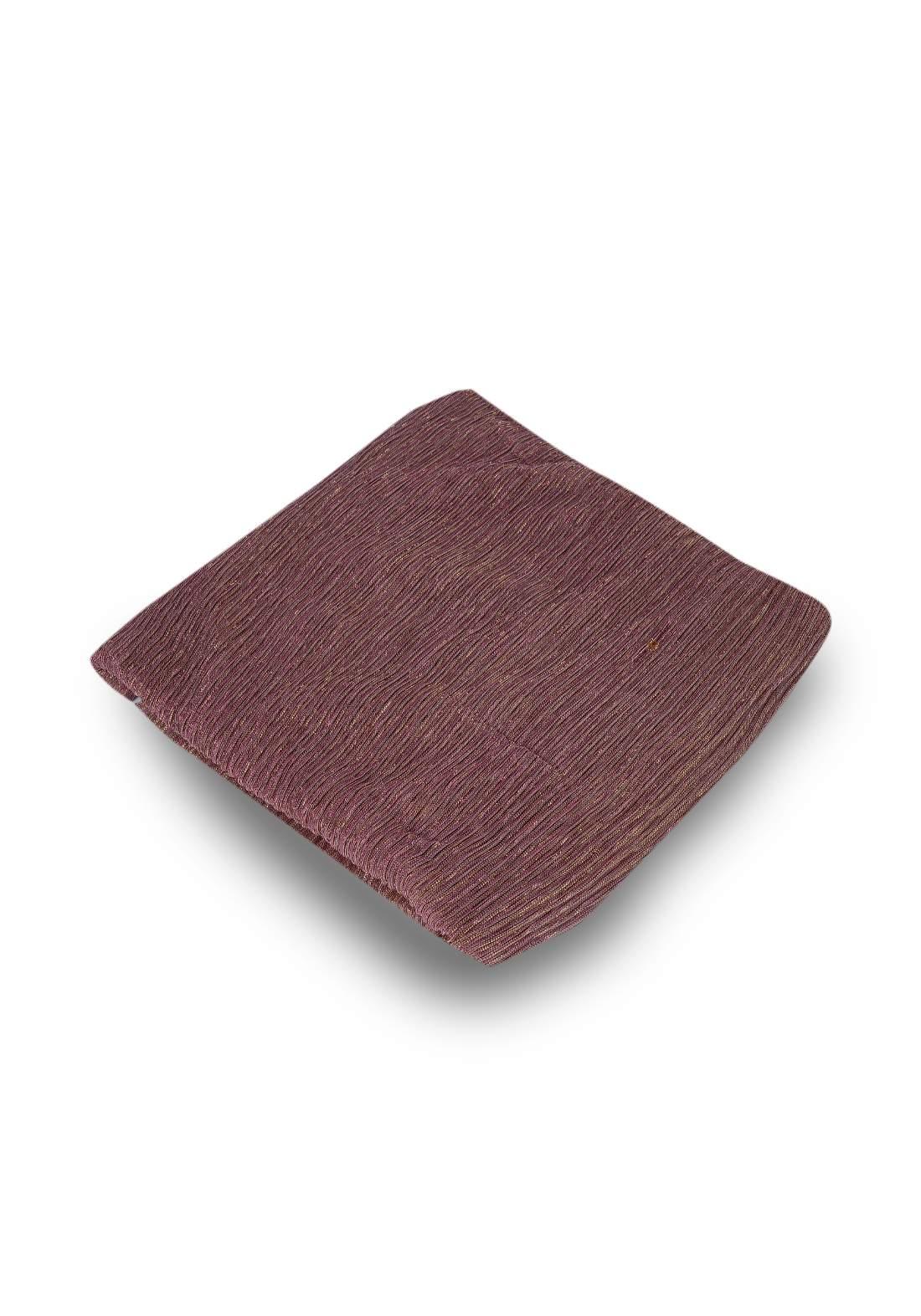 شال بلمعة وردي اللون