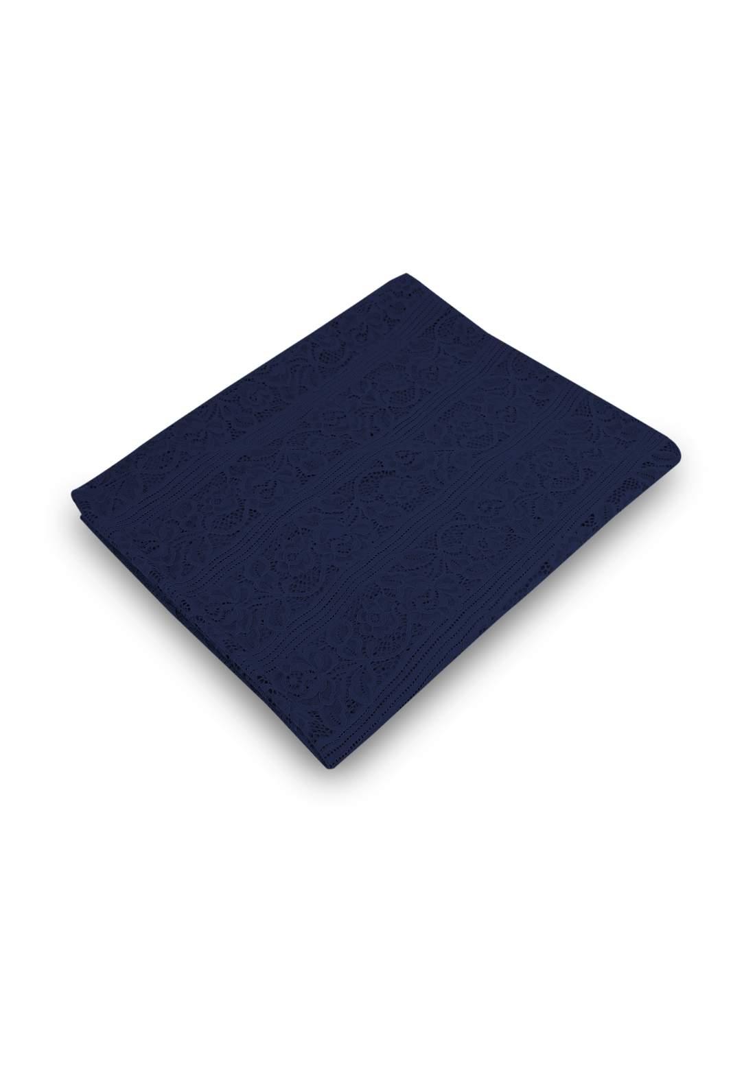 شال كيبور نيلي اللون