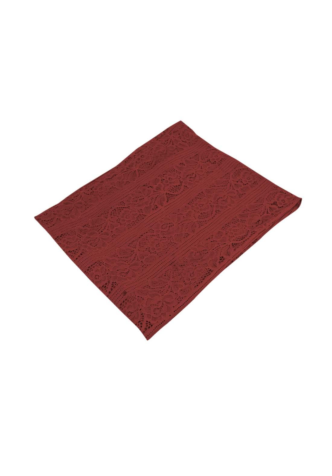 شال كيبور ماروني اللون