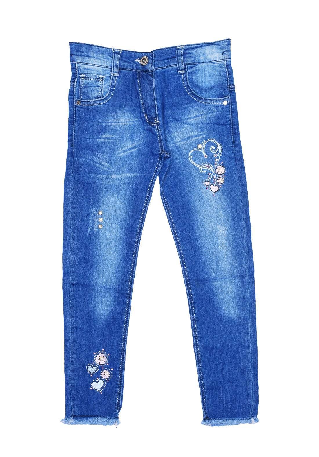 بنطلون بناتي جينز ازرق اللون من Astar