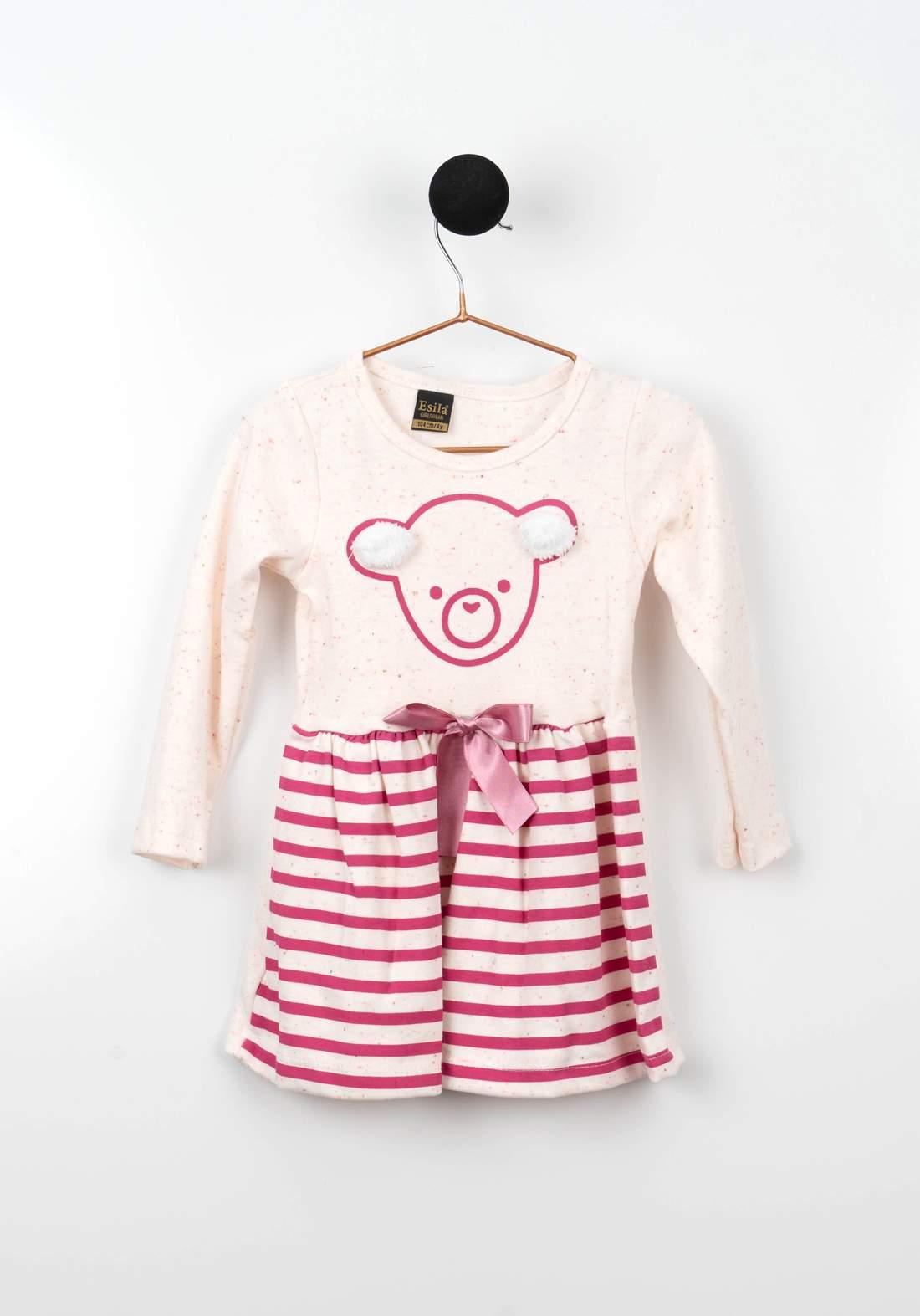 فستان بناتي ابيض ووردي اللون من Astar