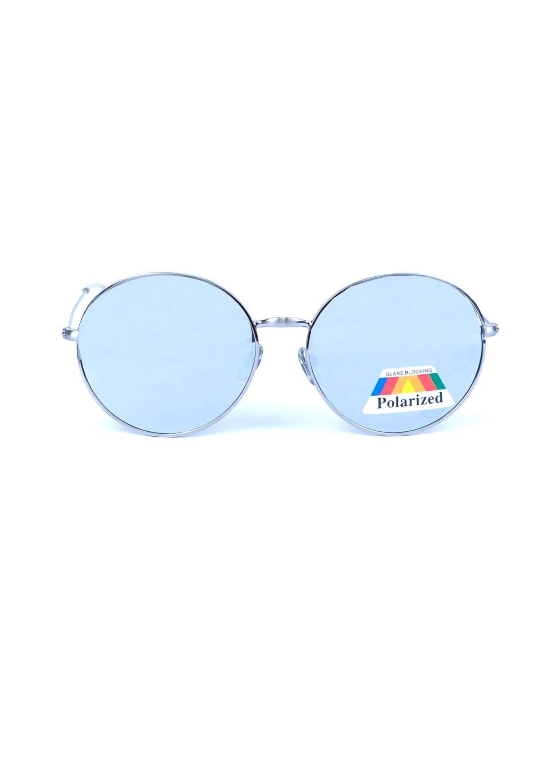 نظارة رجالي بأطار فضي اللون