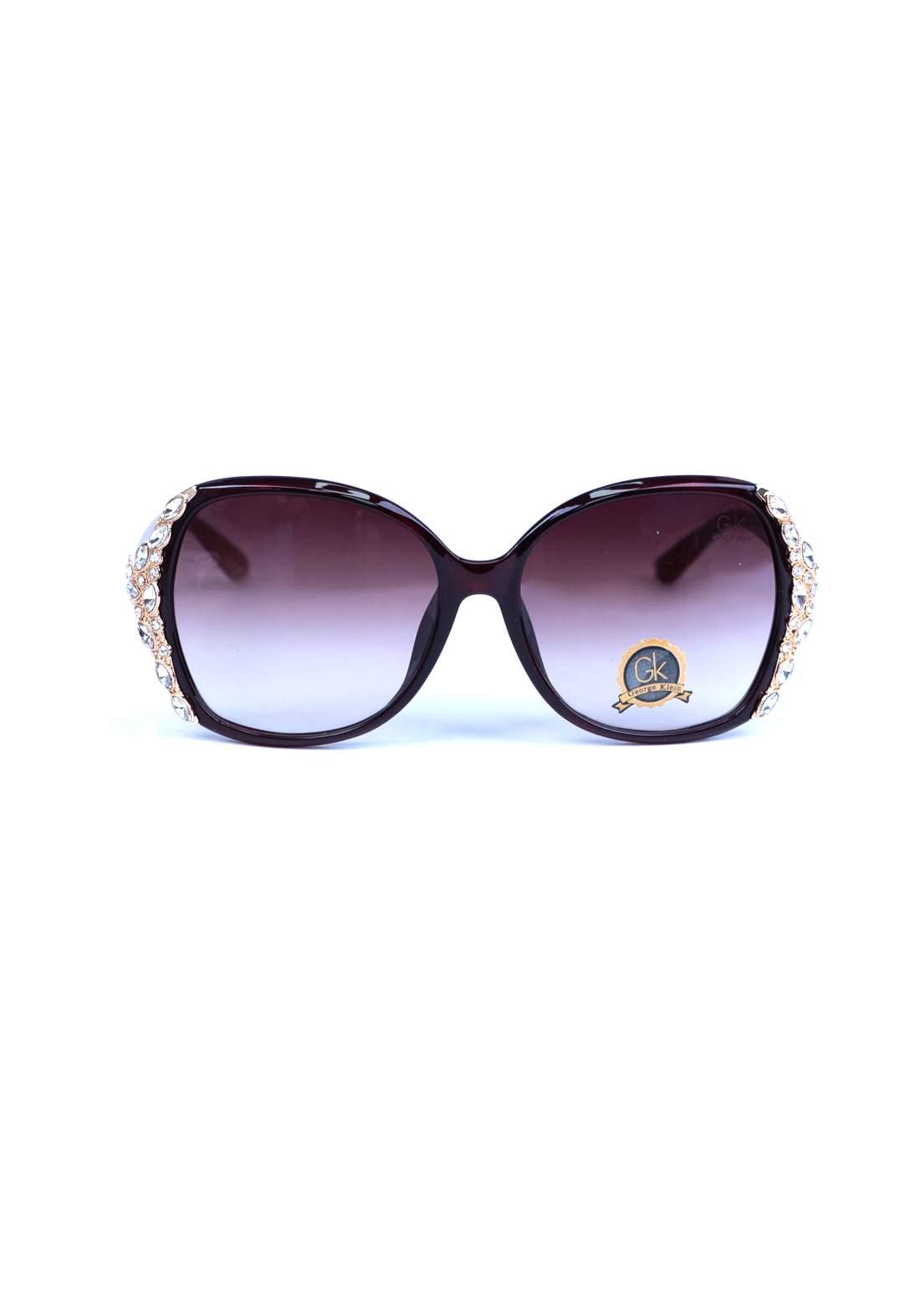 نظارات نسائية  بنية اللون من جي كي
