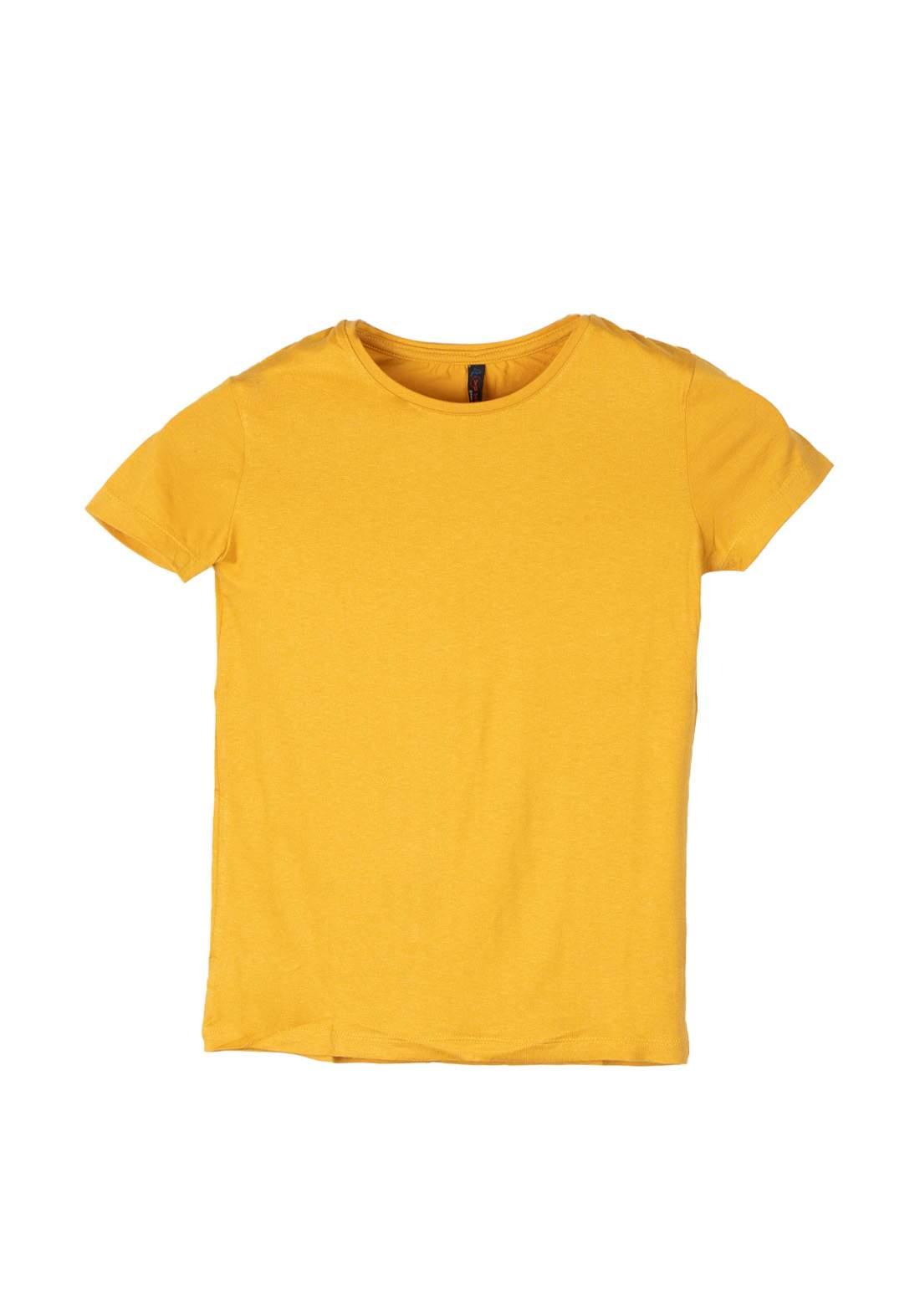 تيشيرت نسائي اصفر اللون