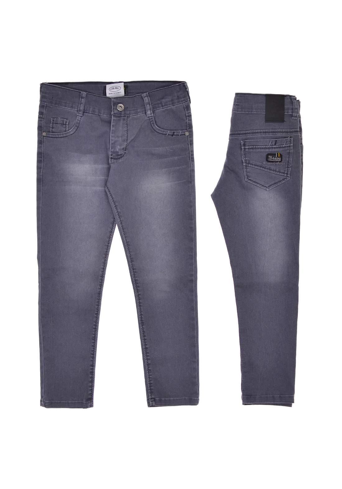 بنطلون جينز ولادي رصاصي اللون