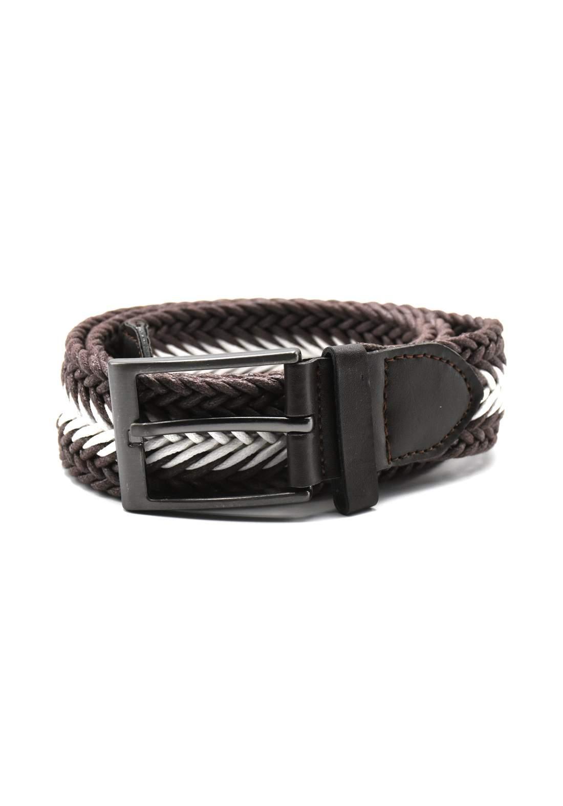 حزام نسائي بني اللون بأبزيم فضي 116 سم