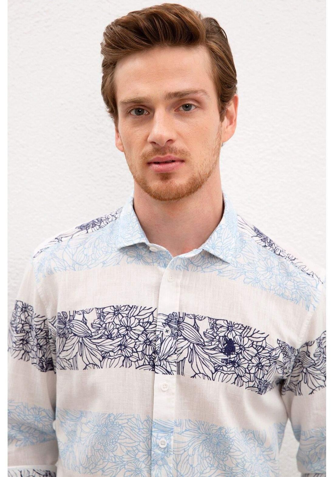 قميص رجالي من U.S. Polo Assn متعدد الالوان