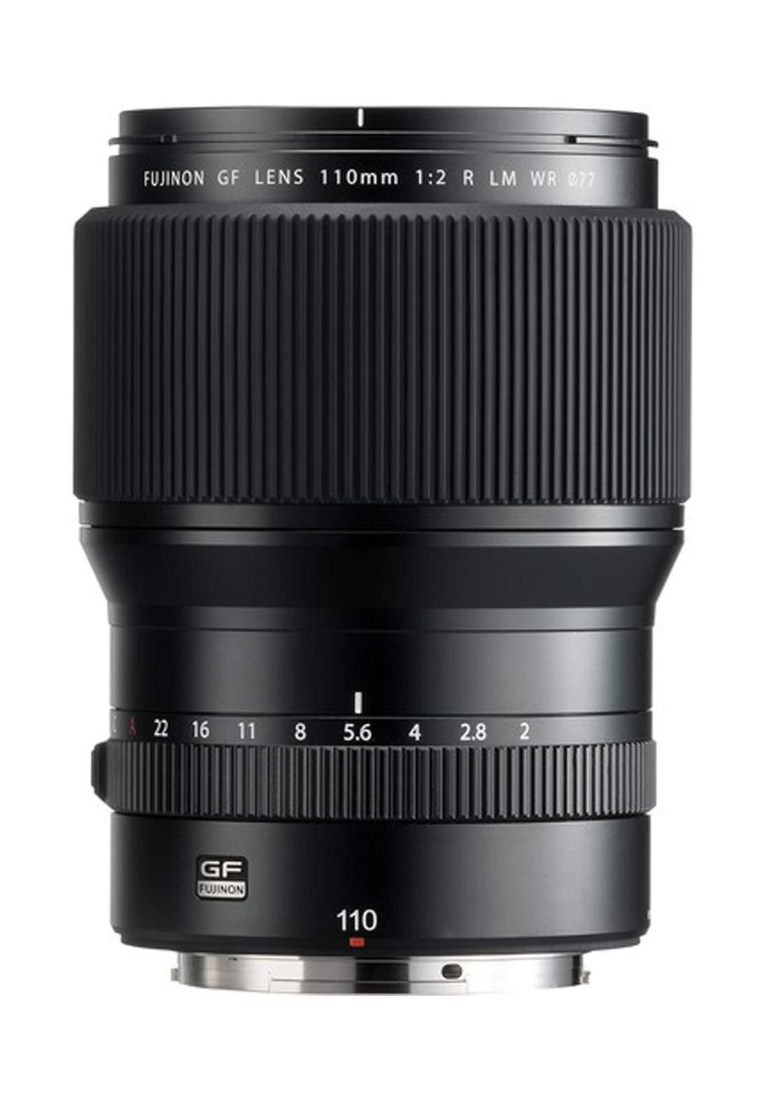 Fujifilm GF 110mm F2 R LM WR Lens - Black عدسة كاميرا