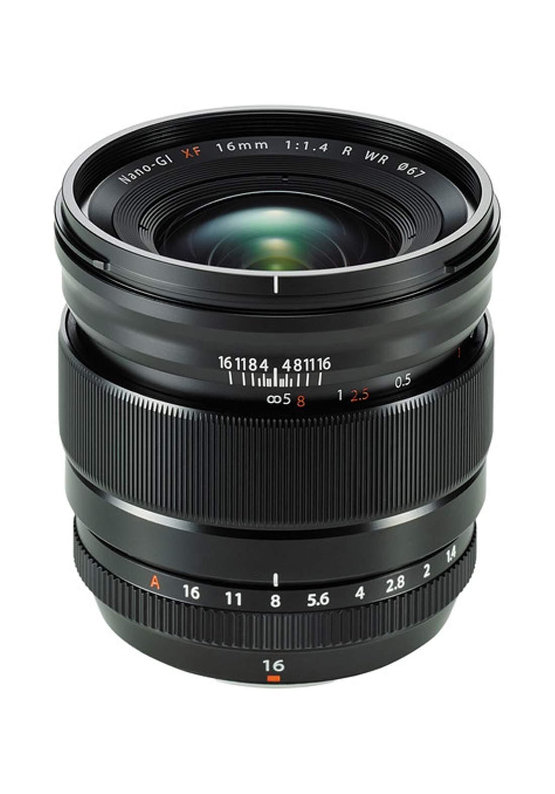 Fujifilm  XF 16mm F1.4 R WR Lens - Black عدسة كاميرا