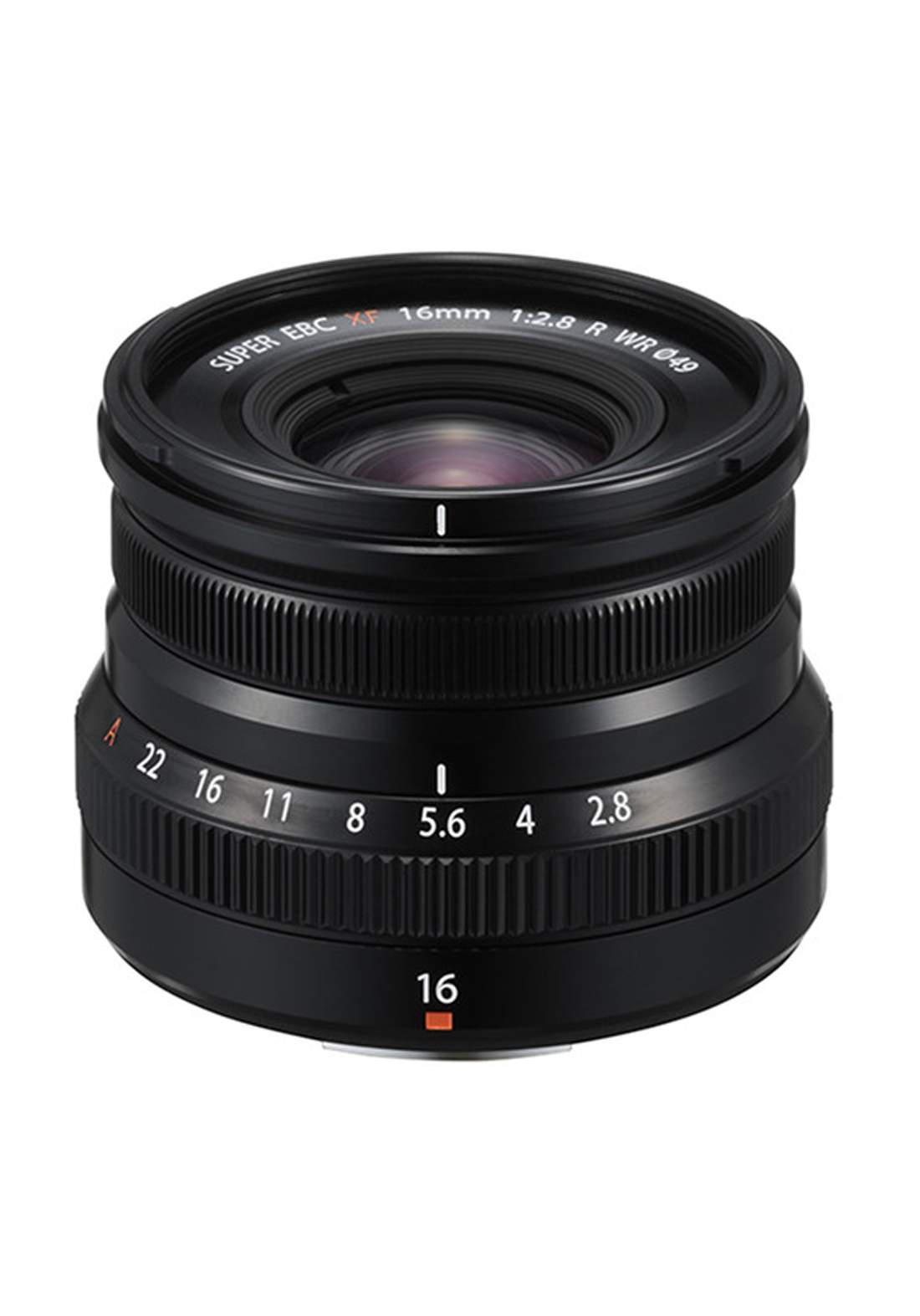 Fujifilm XF 16mm F2.8 R WR Lens - Black عدسة كاميرا