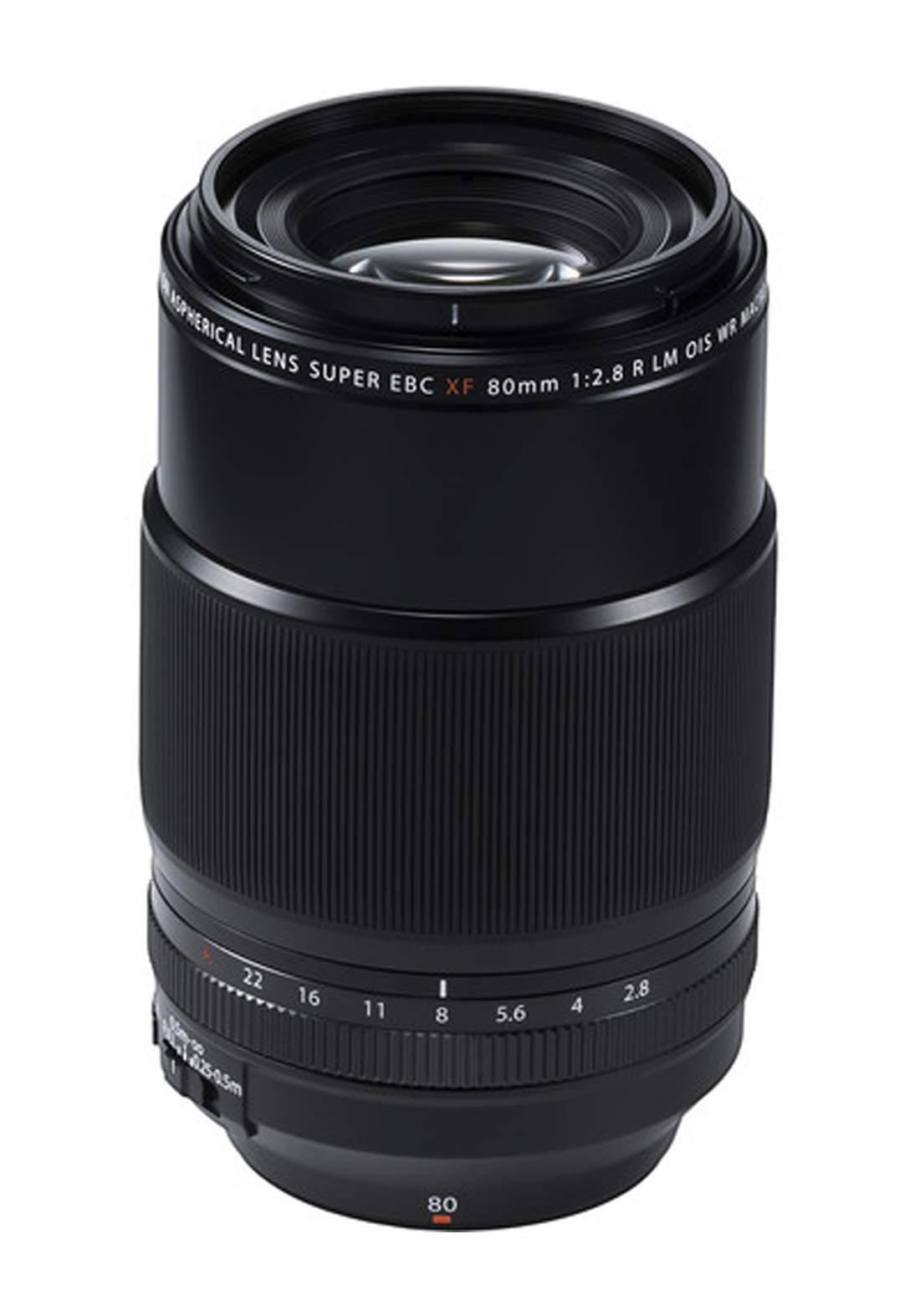 Fujifilm  XF 80mm F2.8 R LM OIS WR Macro Lens  - Black عدسة كاميرا
