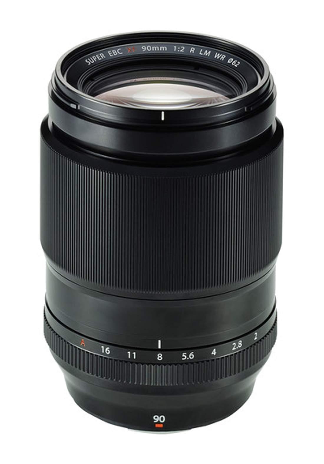 Fujifilm  XF 90mm F2 R LM WR Lens  - Black عدسة كاميرا