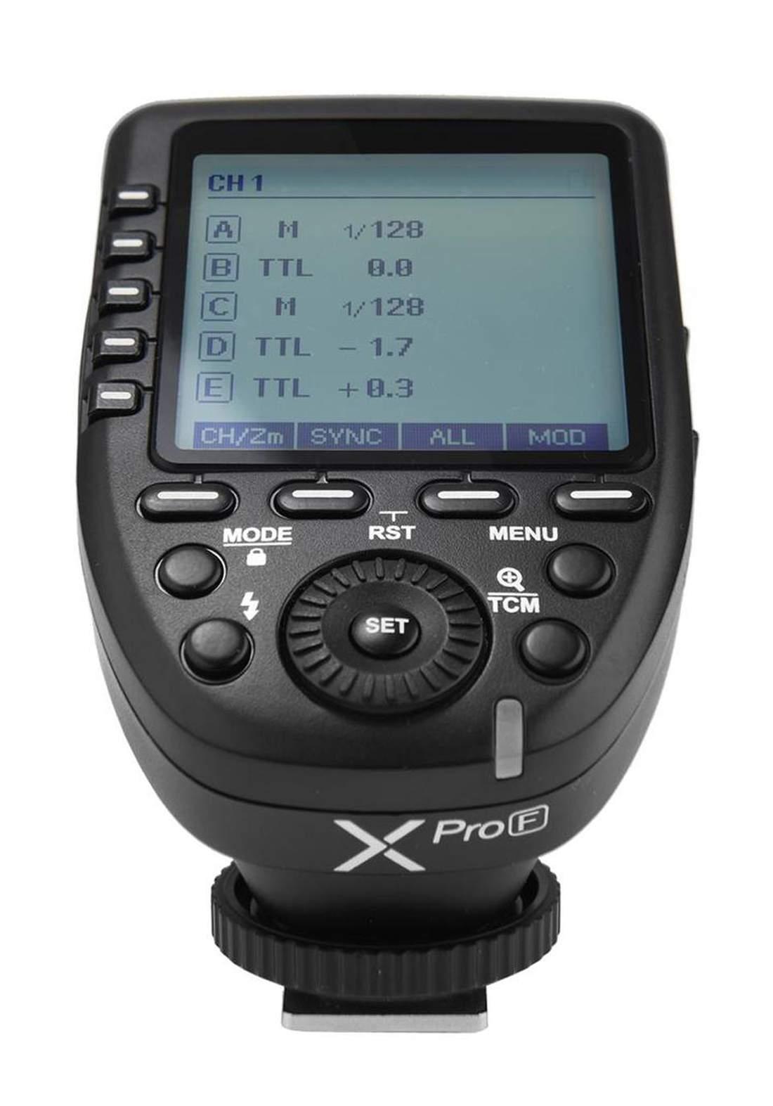 Godox X Pro F TTL Wireless Flash Trigger for Fujifilm Cameras - Black  مشغل فلاش كاميرا