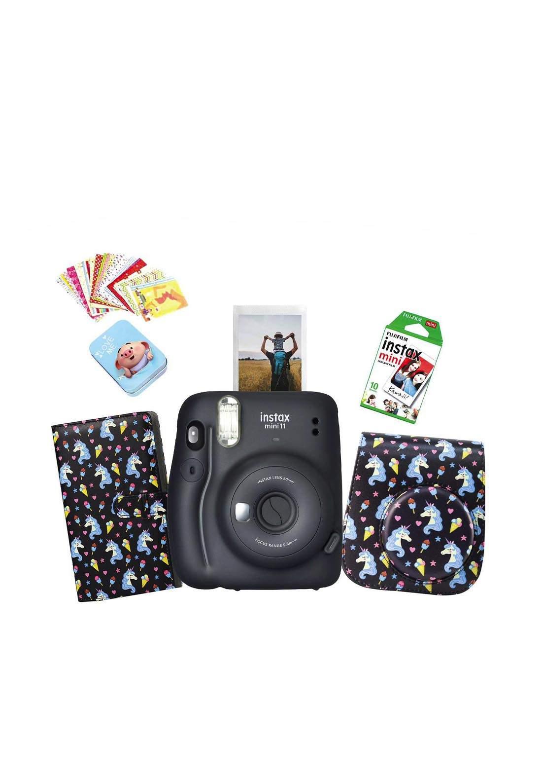 Fujifilm Instax LifeStyle Pack Mini11 Camera Package - Black كاميرا فورية