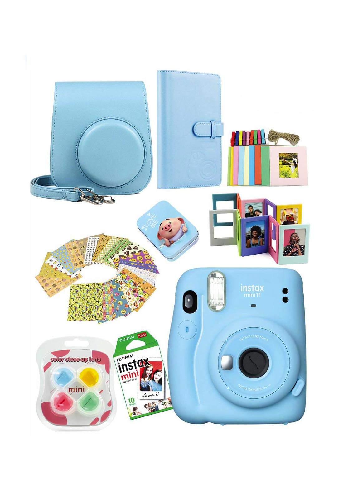 Fujifilm Instax MemoriesPack Mini11 Camera Package - Blue كاميرا فورية