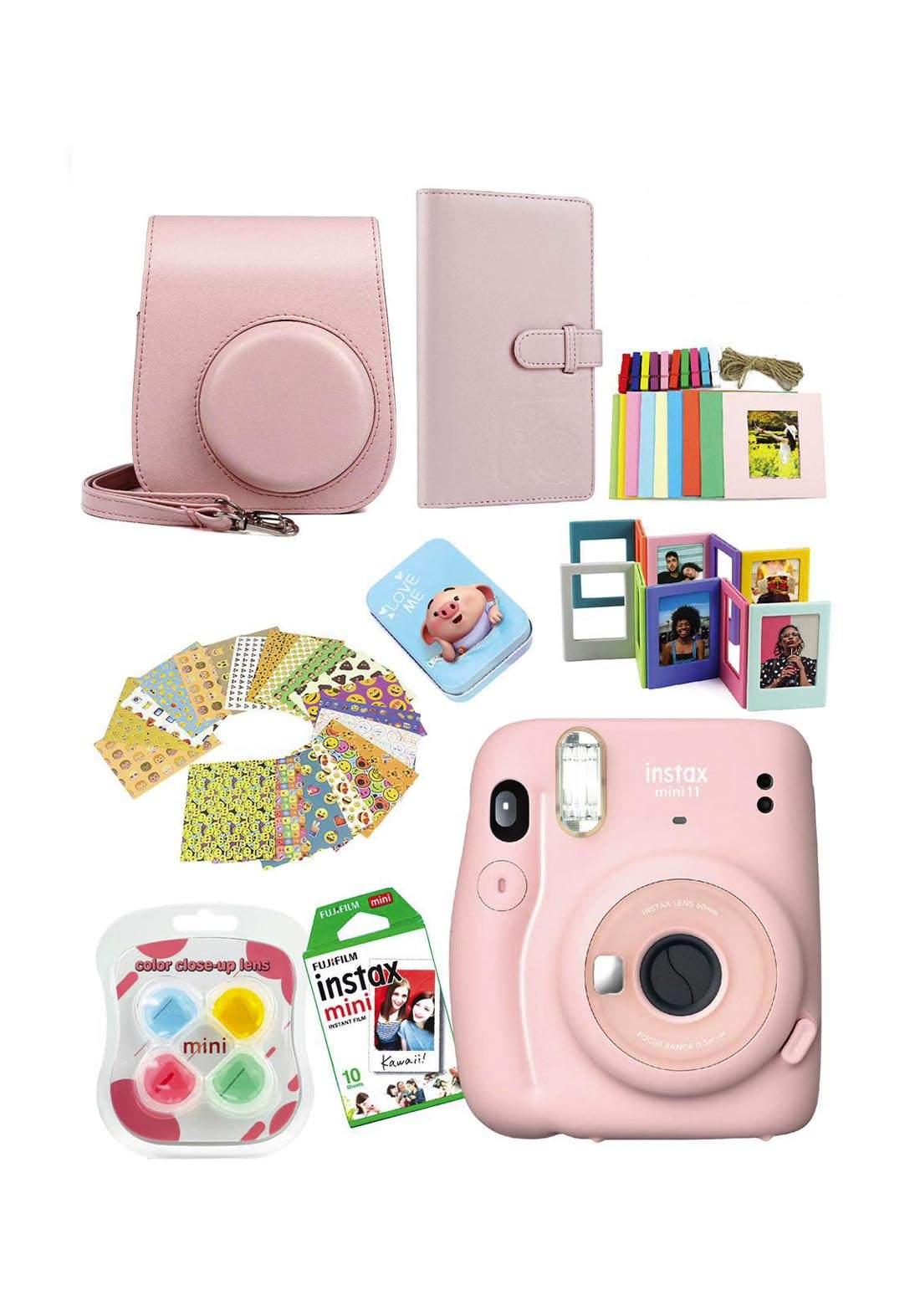 Fujifilm Instax MemoriesPack Mini11 Camera Package - Pink كاميرا فورية