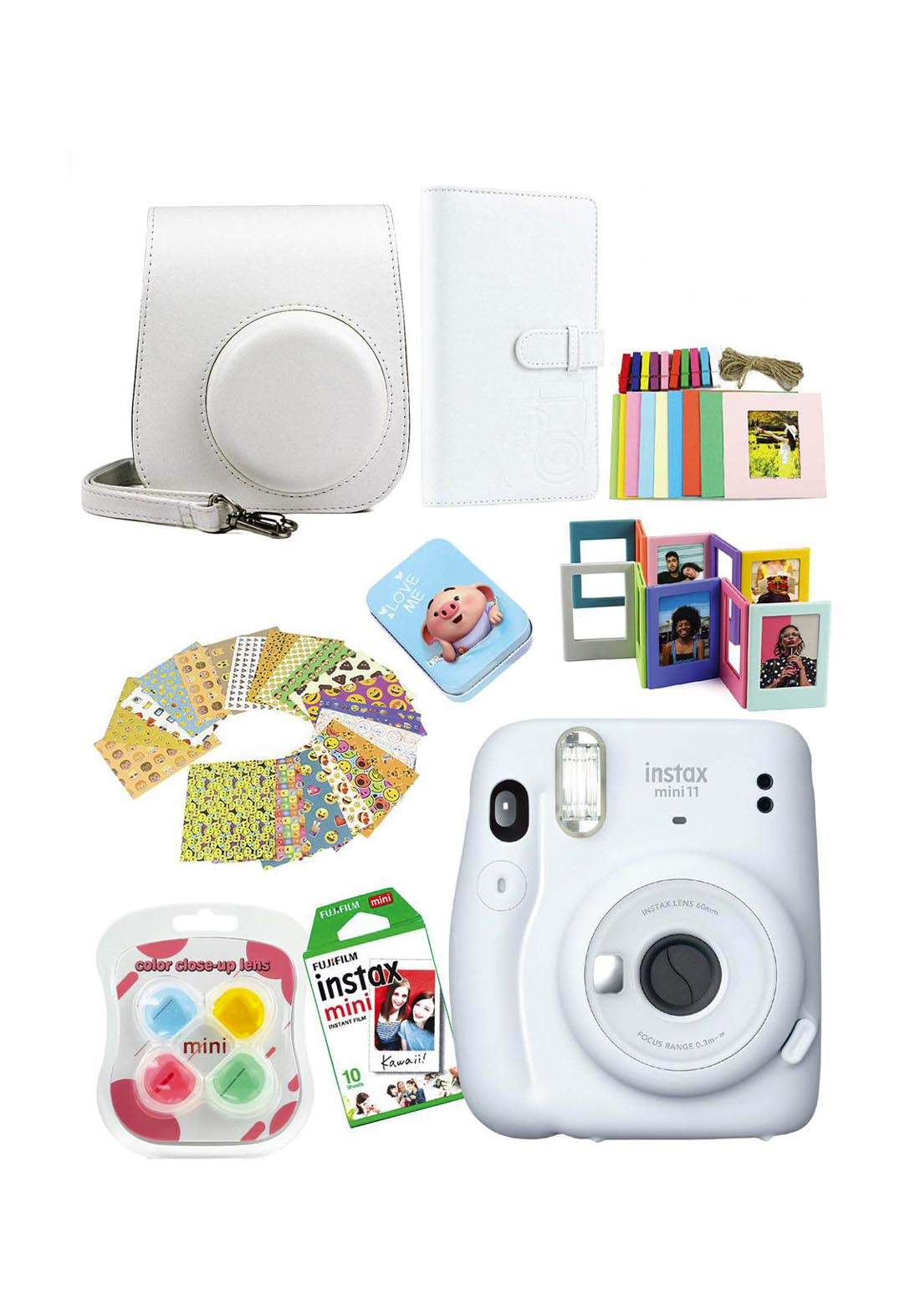 Fujifilm Instax MemoriesPack Mini11 Camera Package - Gray كاميرا فورية