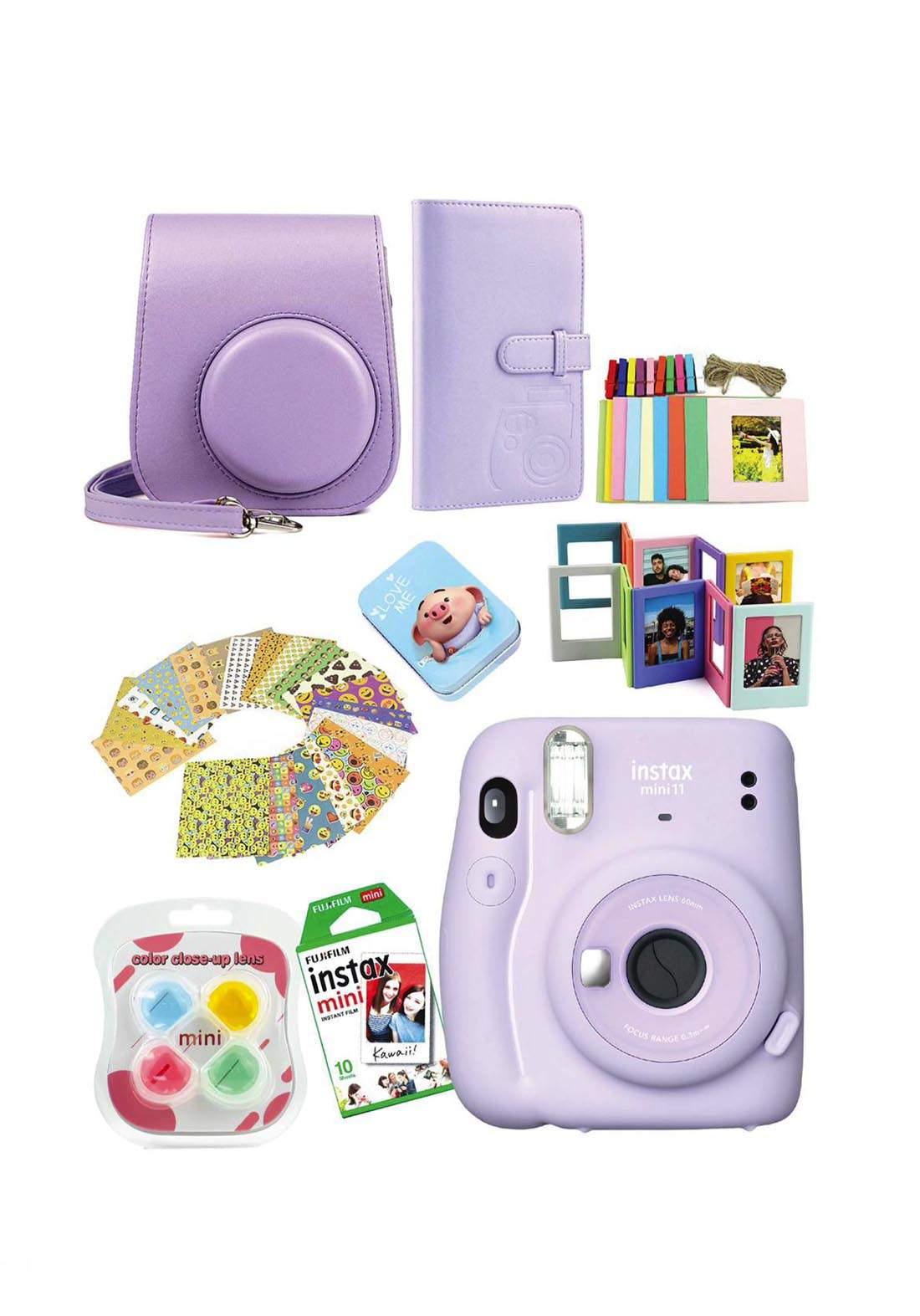 Fujifilm Instax MemoriesPack Mini11 Camera Package - Purple كاميرا فورية
