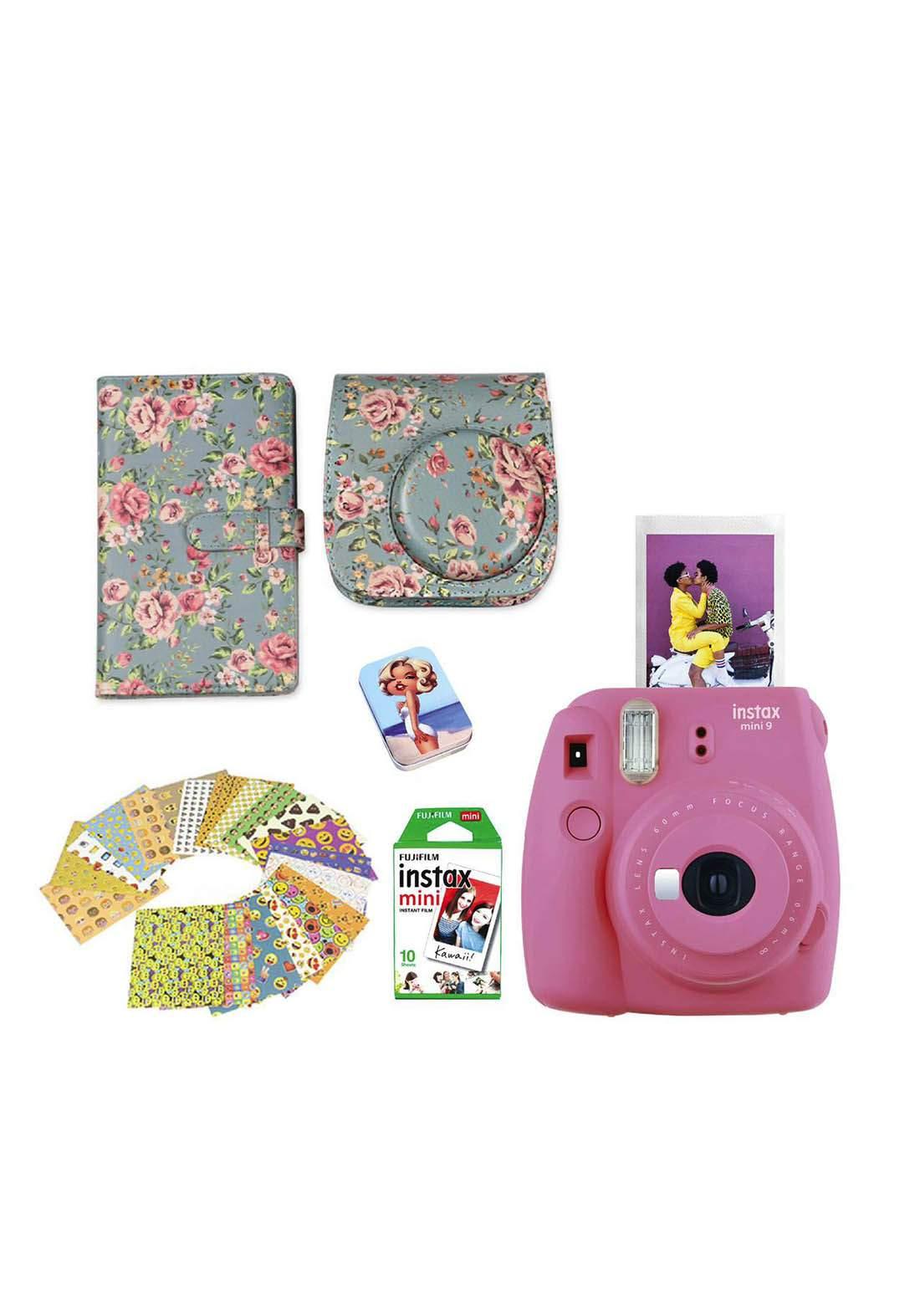Fujifilm Instax LifeStyle Pack Mini9 Camera Package - Pink كاميرا فورية
