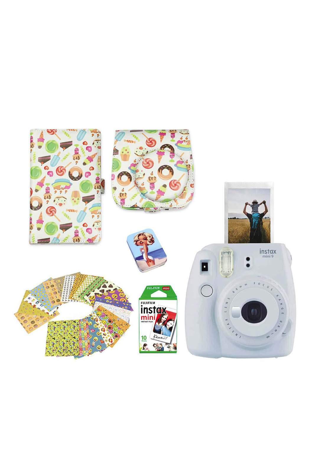 Fujifilm Instax LifeStyle Pack Mini9 Camera Package - Gray كاميرا فورية