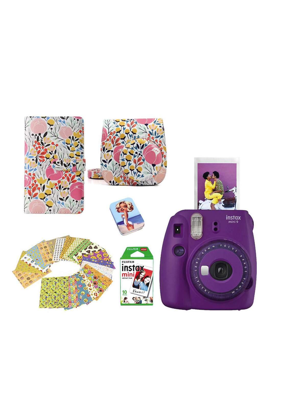 Fujifilm Instax LifeStyle Pack Mini9 Camera Package - Purple كاميرا فورية