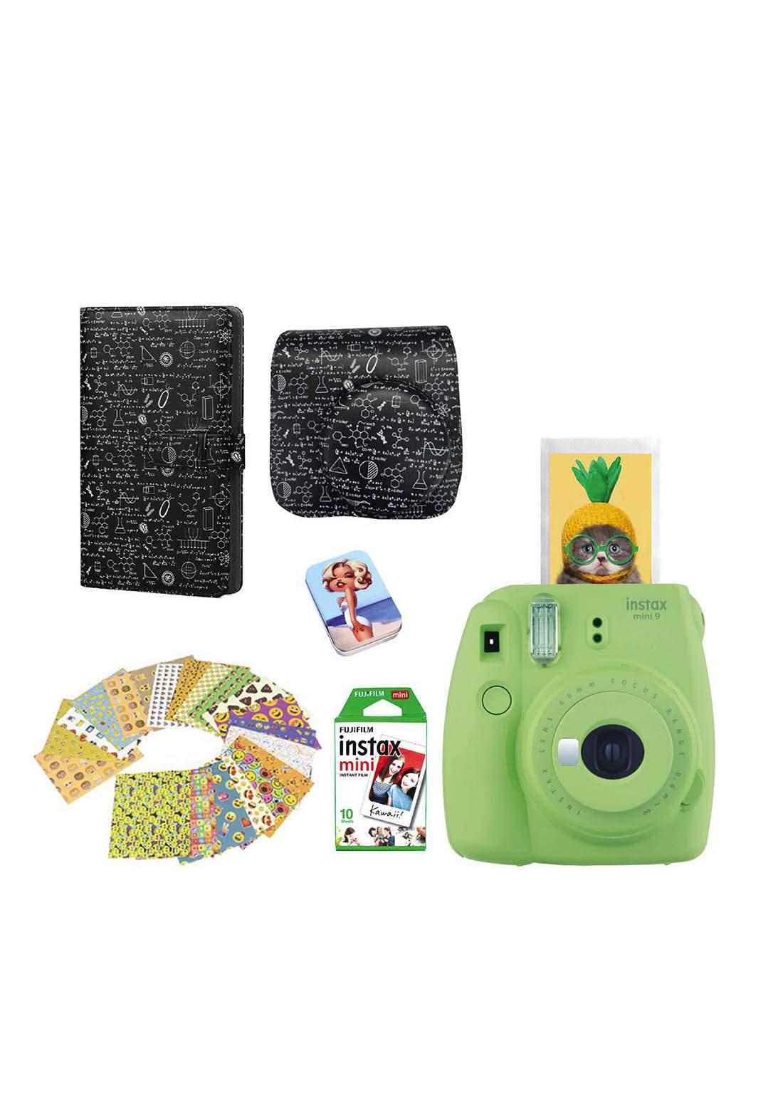 Fujifilm Instax LifeStyle Pack Mini9 Camera Package - Green كاميرا فورية