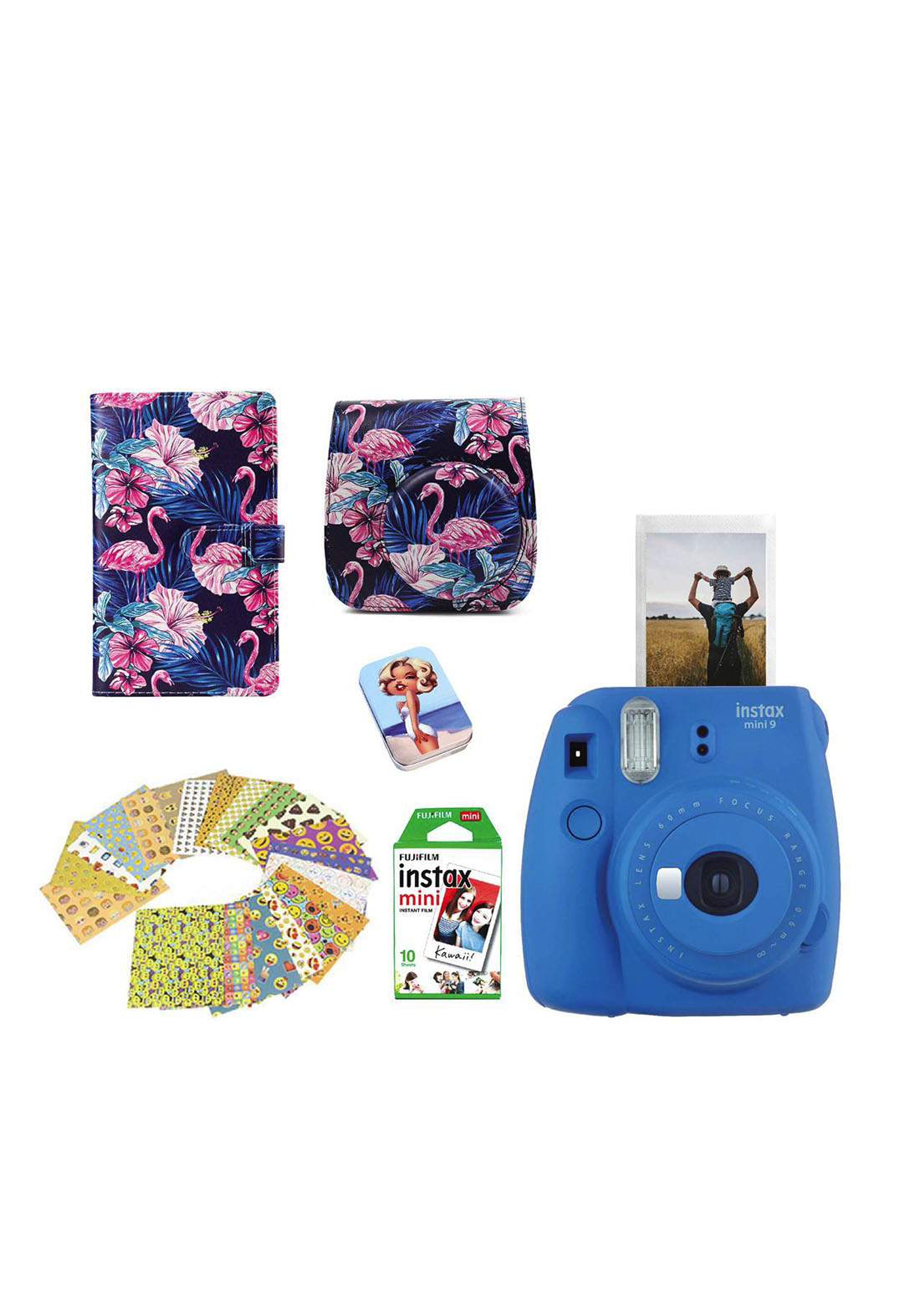 Fujifilm Instax LifeStyle Pack Mini9 Camera Package - Blue كاميرا فورية