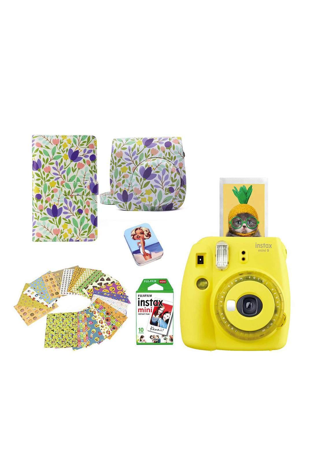 Fujifilm Instax LifeStyle Pack Mini9 Camera Package - Yellow كاميرا فورية