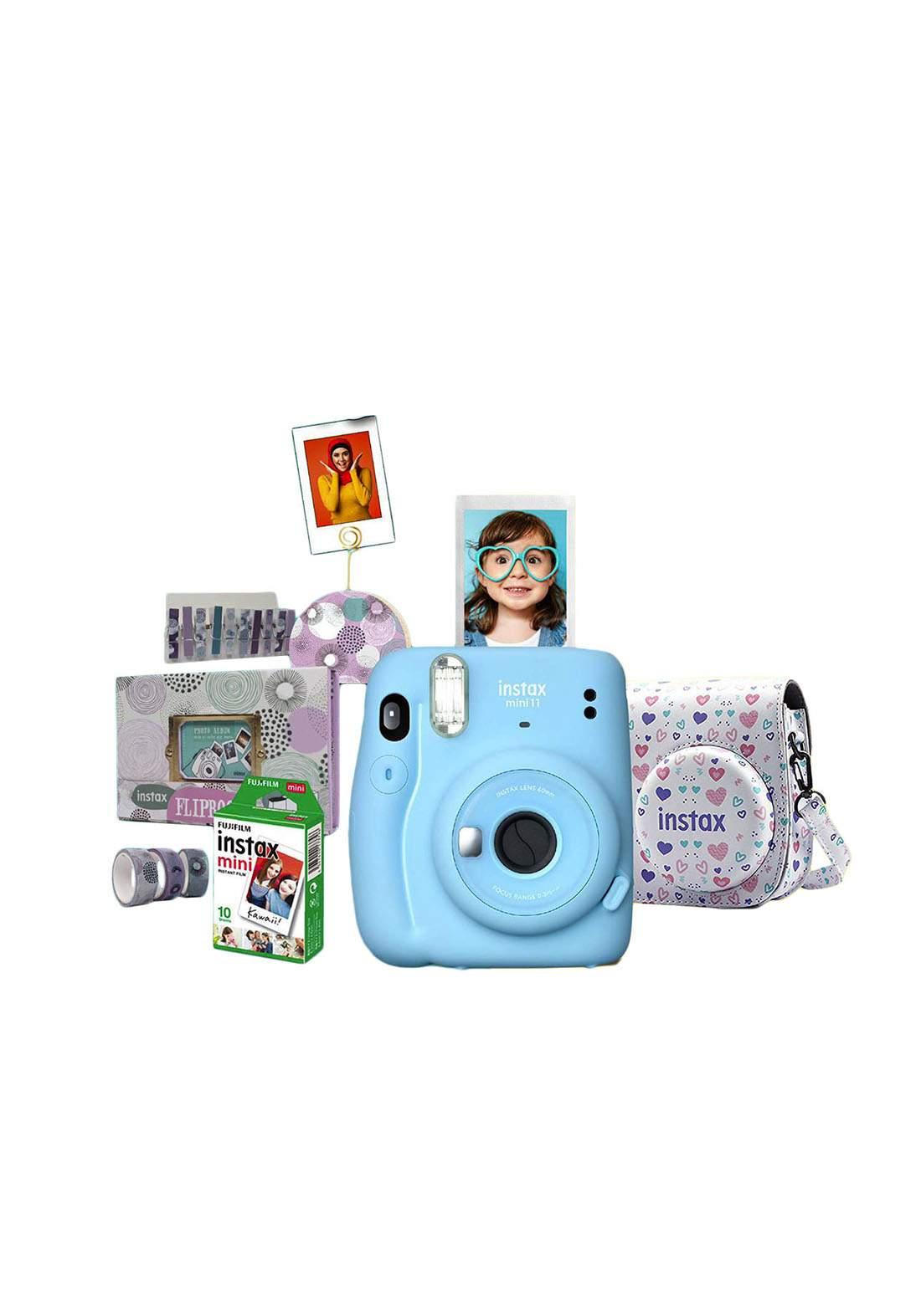 Fujifilm Instax ValuePack Mini11 Camera Package - Blue كاميرا فورية