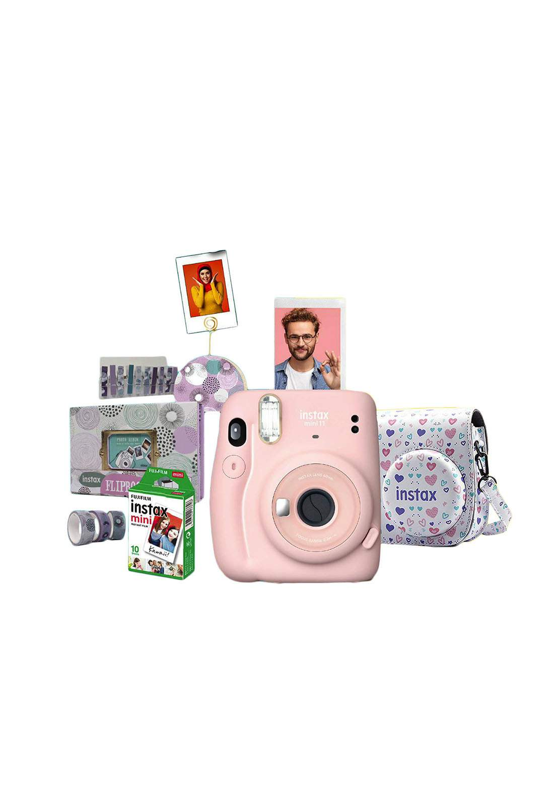 Fujifilm Instax ValuePack Mini11 Camera Package - Pink كاميرا فورية