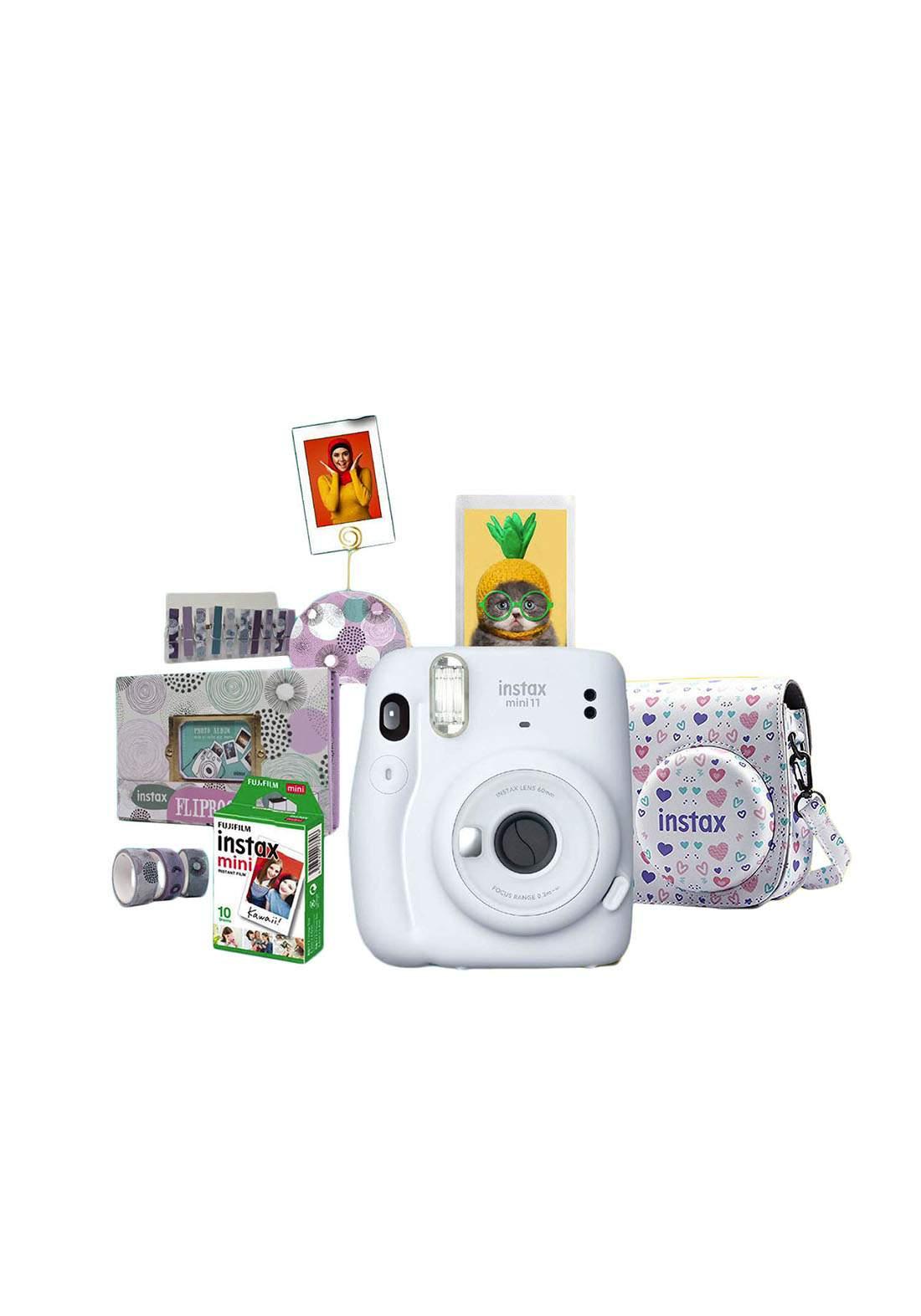 Fujifilm Instax ValuePack Mini11 Camera Package - Gray كاميرا فورية